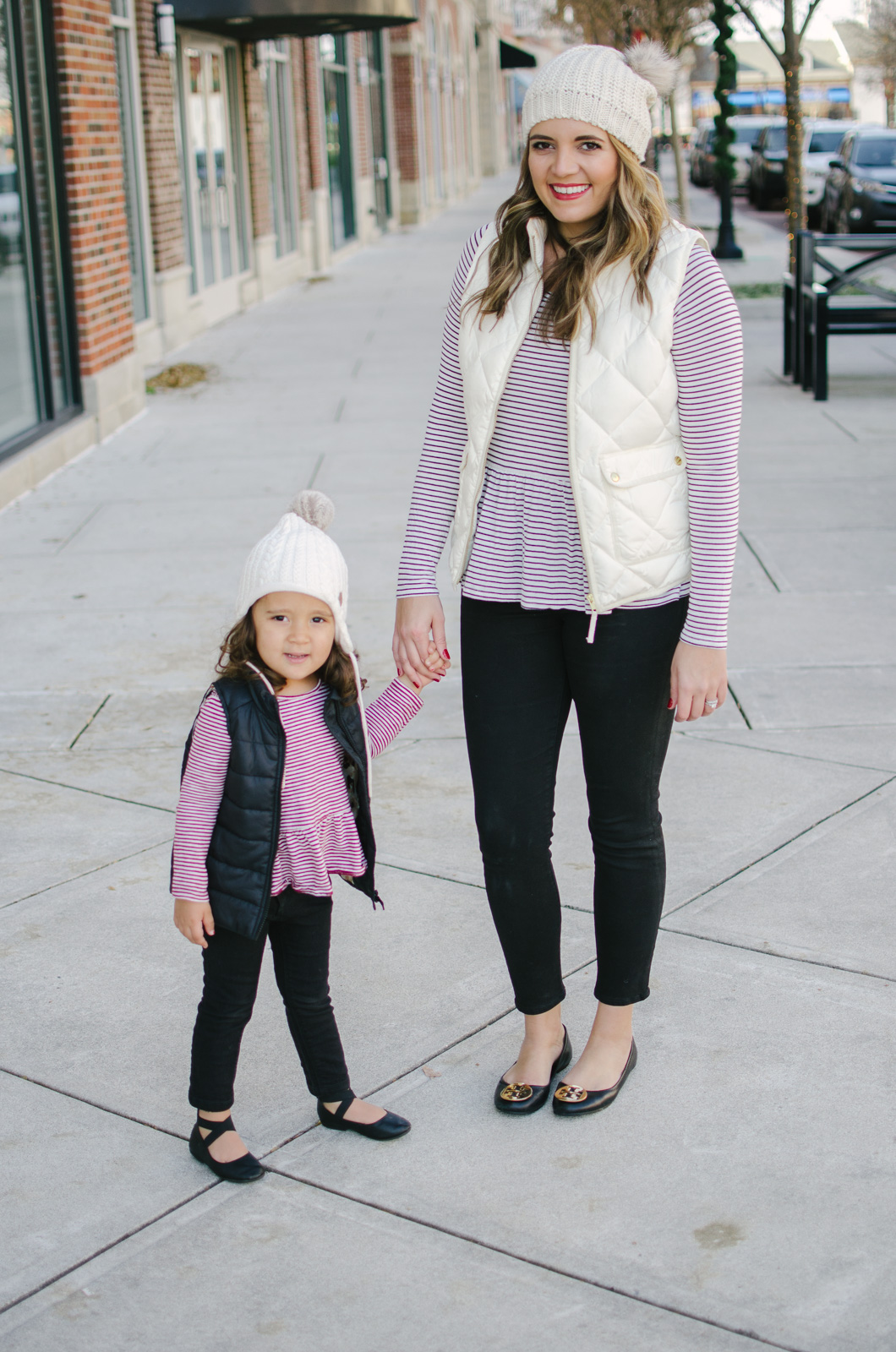 matching mommy and me outfits for winter - mother daughter matching outfit ideas! | See more mommy and me matching outfits at bylaurenm.com!