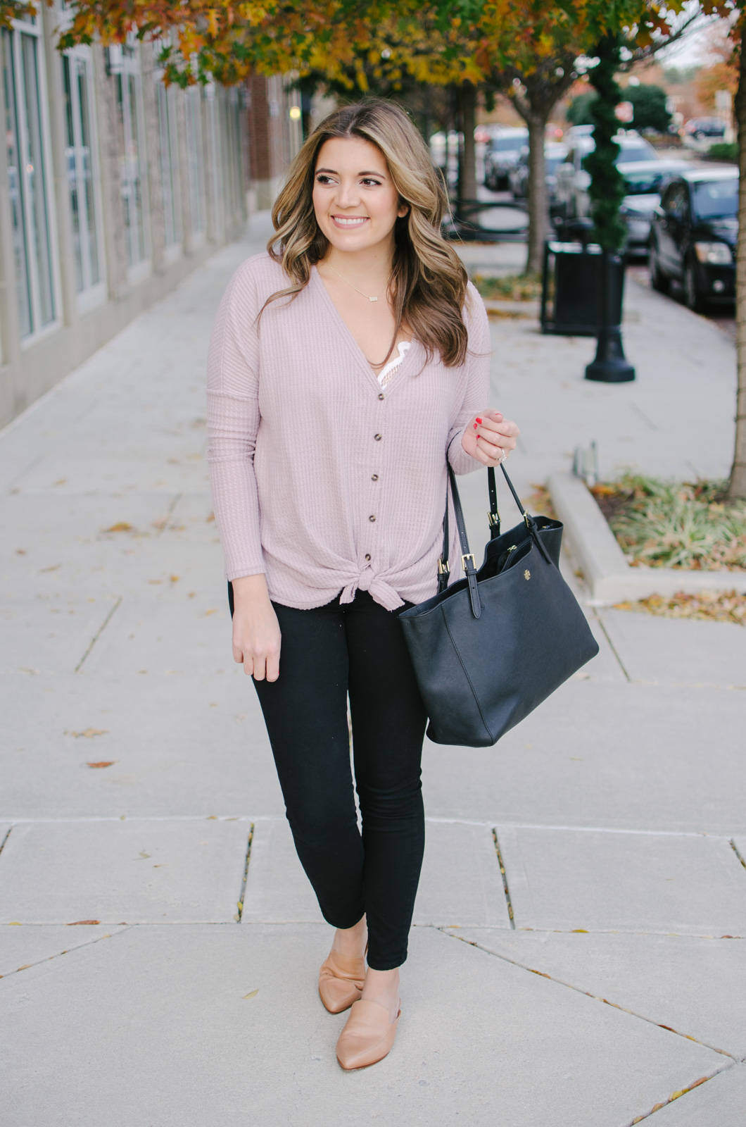 thermal top outfit - how to wear a thermal top | See more Winter outfit ideas or get outfit details by clicking through to bylaurenm.com!