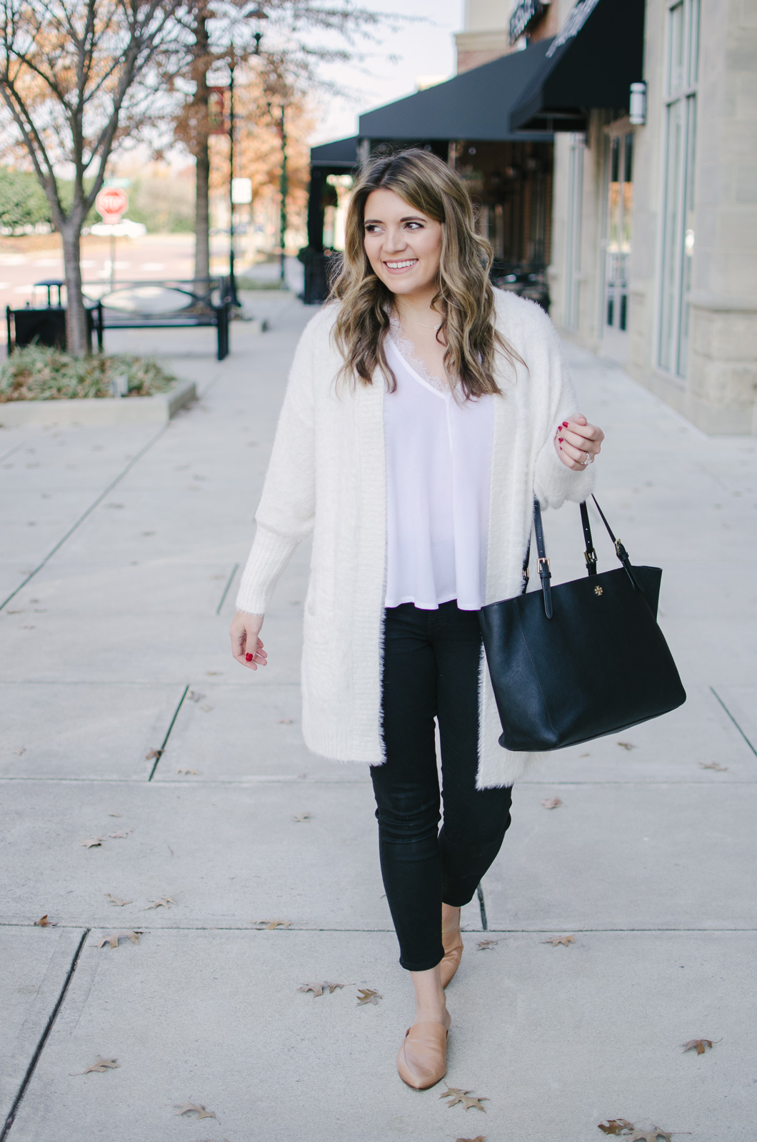 winter white outfit - white winter outfit idea | Get outfit details or see more cute casual Winter outfits at bylaurenm.com