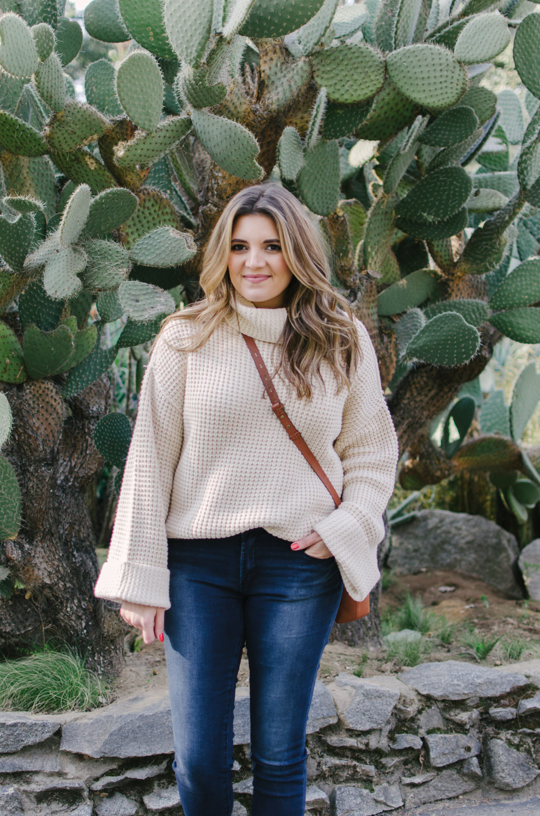 how wear chunky sweater - chunky turtleneck sweater outfit | shop this look or see more cute winter outfits at bylaurenm.com!