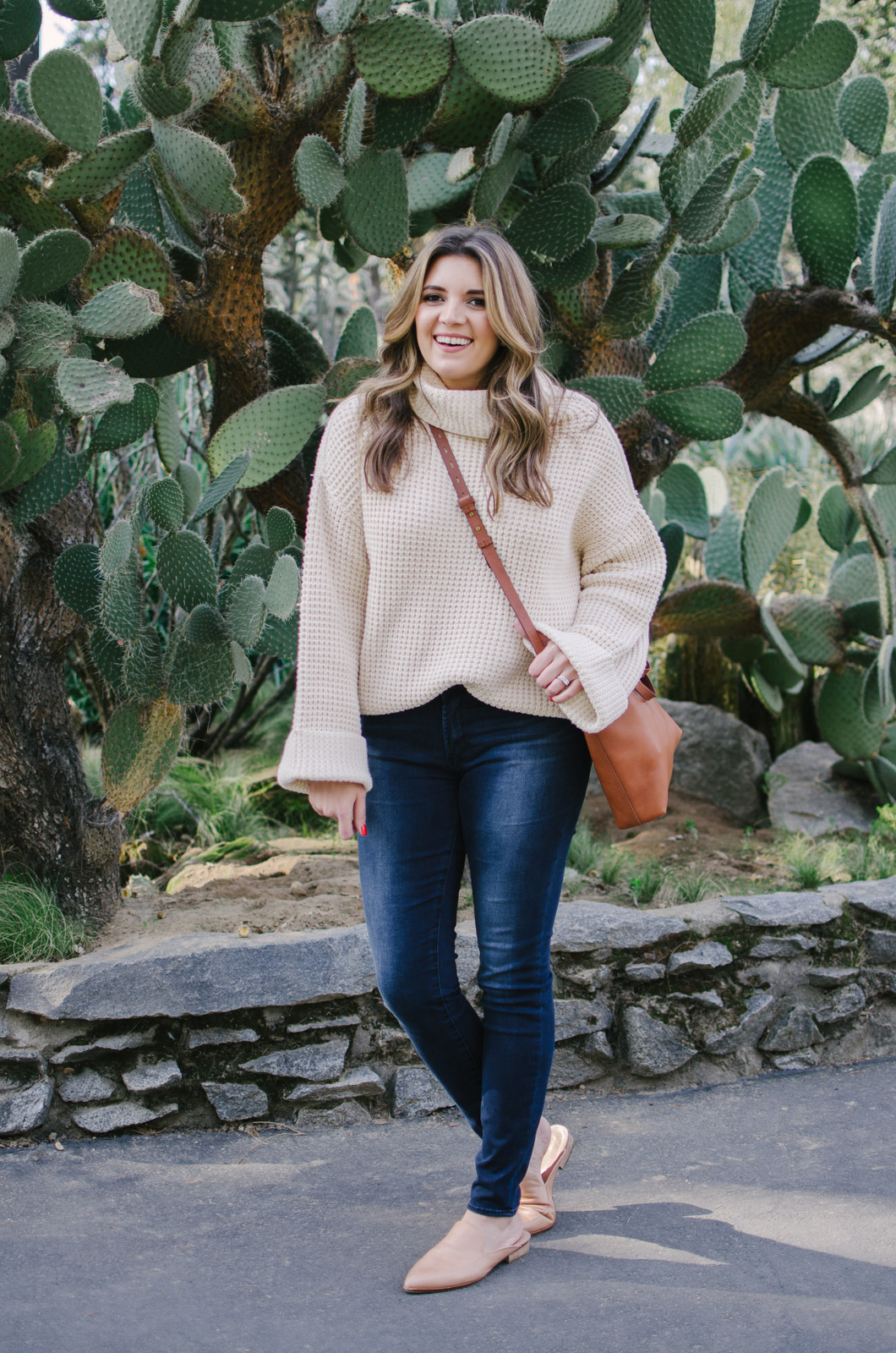 chunky sweater outfit - how wear chunky turtleneck sweater | shop this look or see more cute winter outfits at bylaurenm.com!