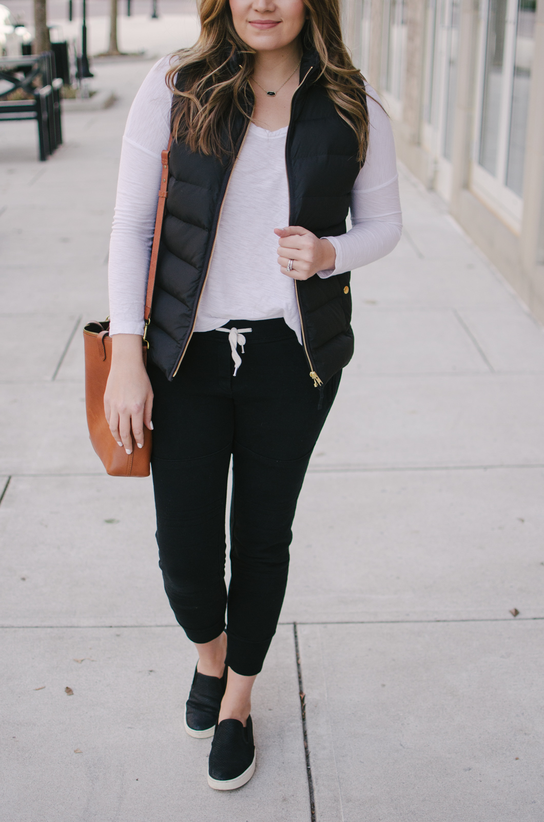 casual jogger pants outfits - two ways to wear jogger pants | Click through to shop this look or see the other casual jogger pants outfit idea! bylaurenm.com