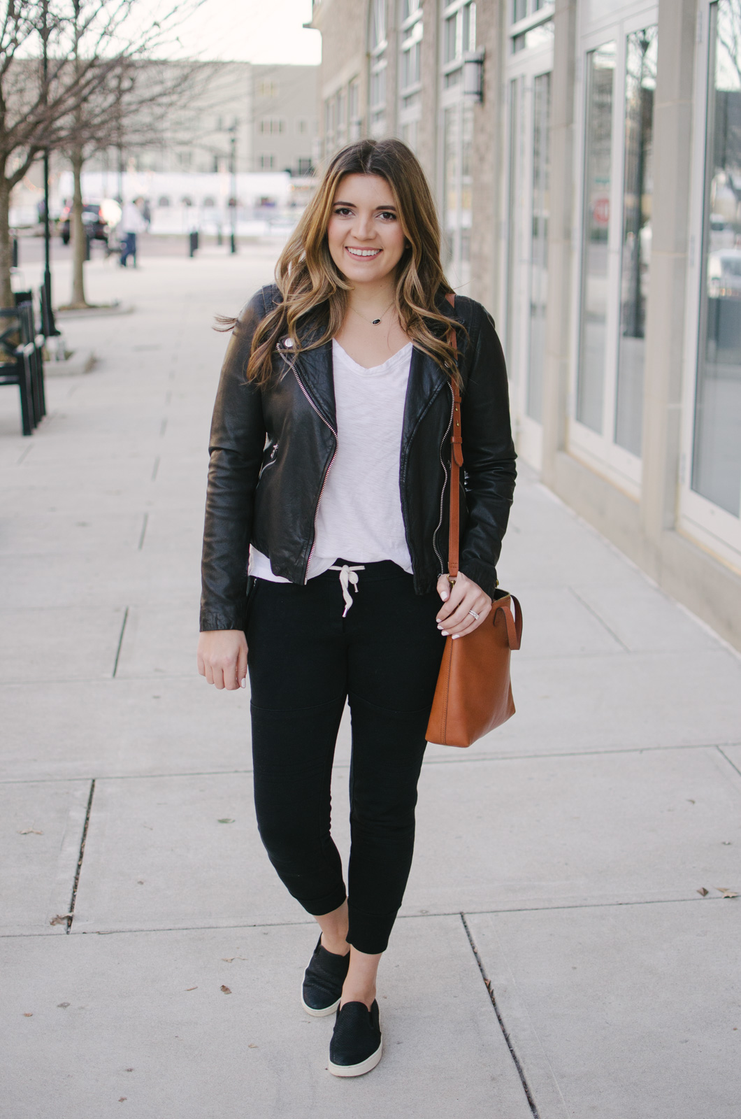 casual jogger pants outfit - two ways to wear jogger pants + all my tips for how to style them | Click through to shop this look or see the other casual jogger pants outfit idea! bylaurenm.com