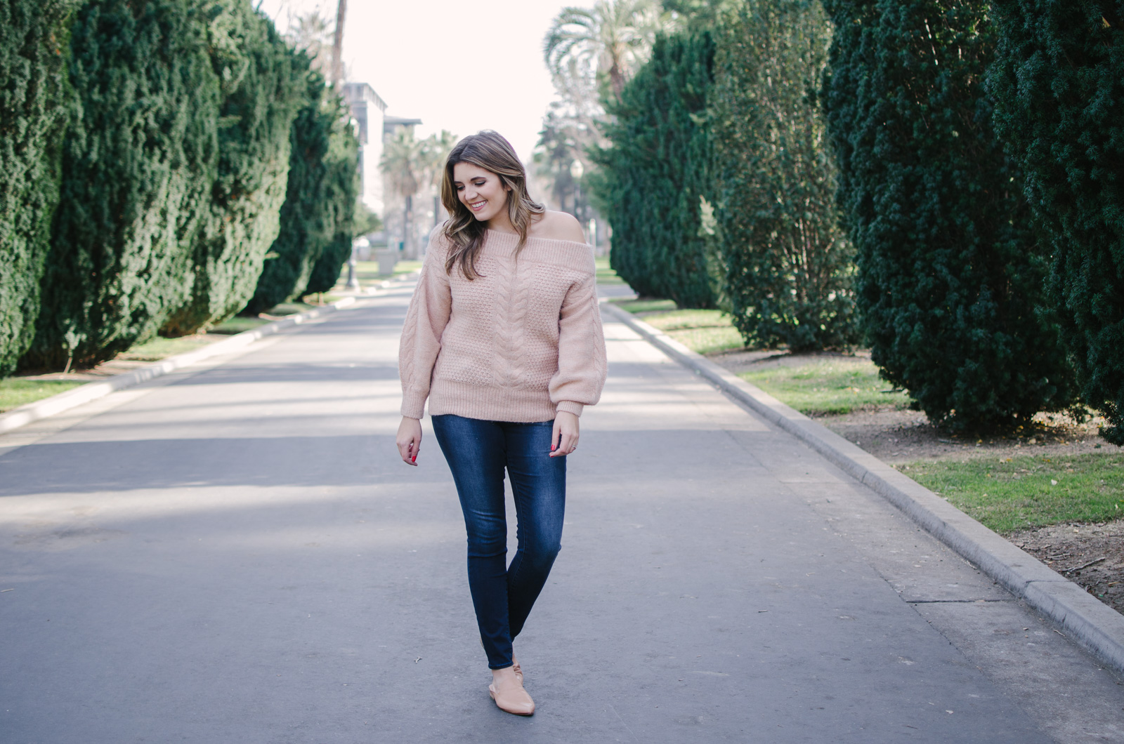 off the shoulder sweater outfit - how to wear an off shoulder sweater   Shop this look or see more outfit ideas at bylaurenm.com!