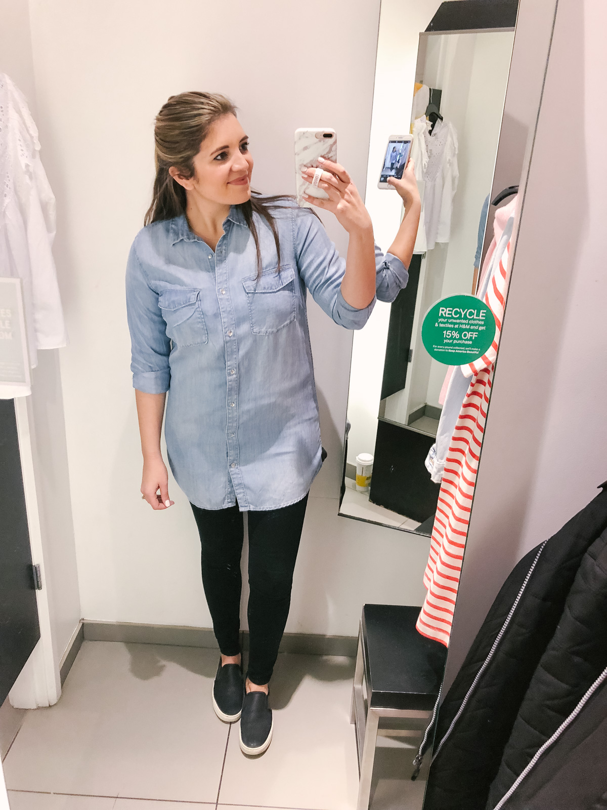 H&M dressing room reviews - dressing room diaries H&M 2018 | See the full clothing try-on session at bylaurenm.com!