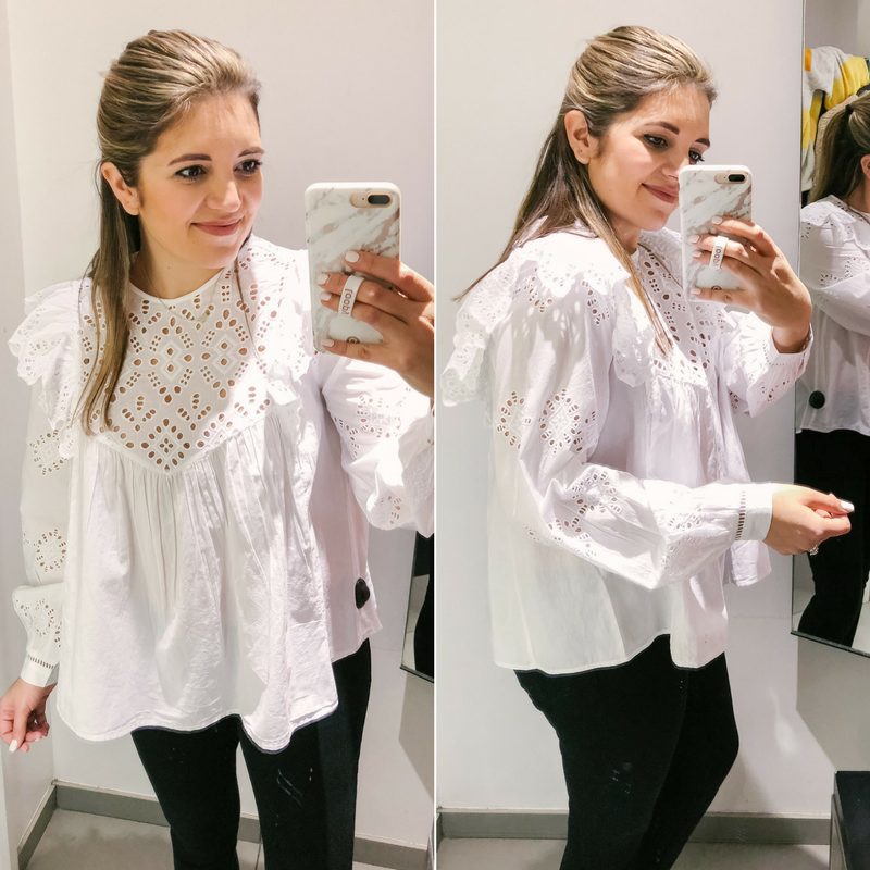 dressing room photos H&M - best H&M spring finds 2018 | See the full clothing try-on session at bylaurenm.com!