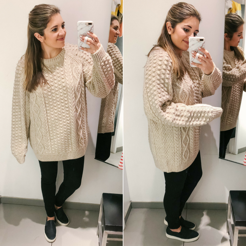 H&M dressing room reviews spring 2018 - best H&M picks for transitioning to spring! | See the full clothing try-on session at bylaurenm.com!