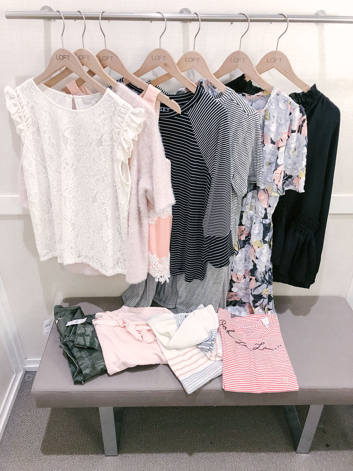 spring loft dressing room reviews - spring loft try-on session | bylaurenm.com