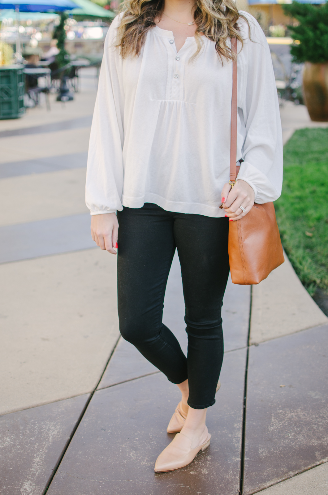 free people henley outfit - classic black and white outfit | For more everyday casual outfits, head to bylaurenm.com!