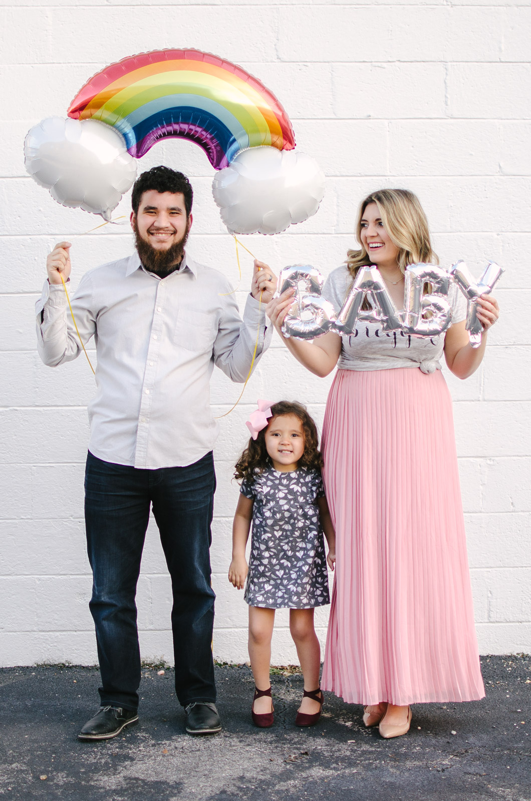 rainbow baby announcement by lauren m