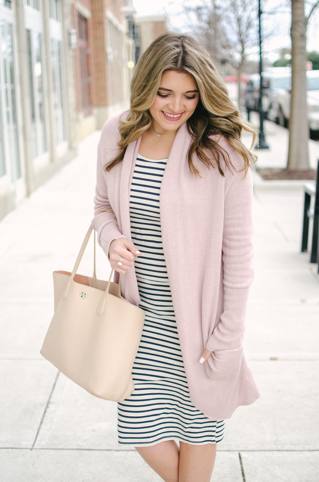 striped dress two ways - Need spring outfit inspo? See two ways to wear this dress at bylaurenm.com!