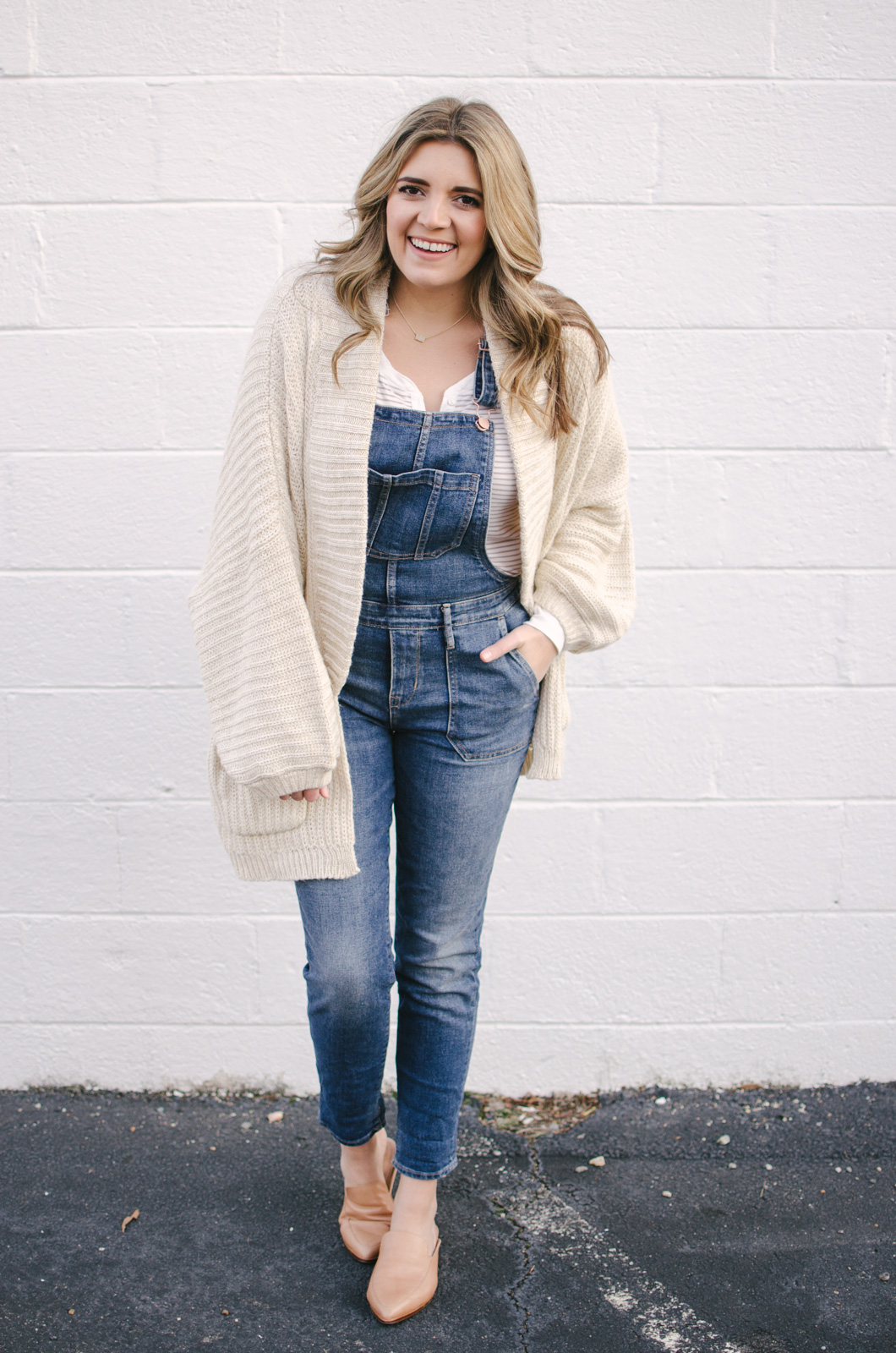 overalls outfit winter - how to wear overalls winter | Shop this look or see more cute winter outfit ideas at bylaurenm.com!