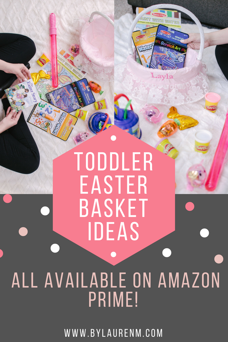 best toddler easter basket ideas on amazon prime! Get everything delivered to your day in 1-2 days! | bylaurenm.com