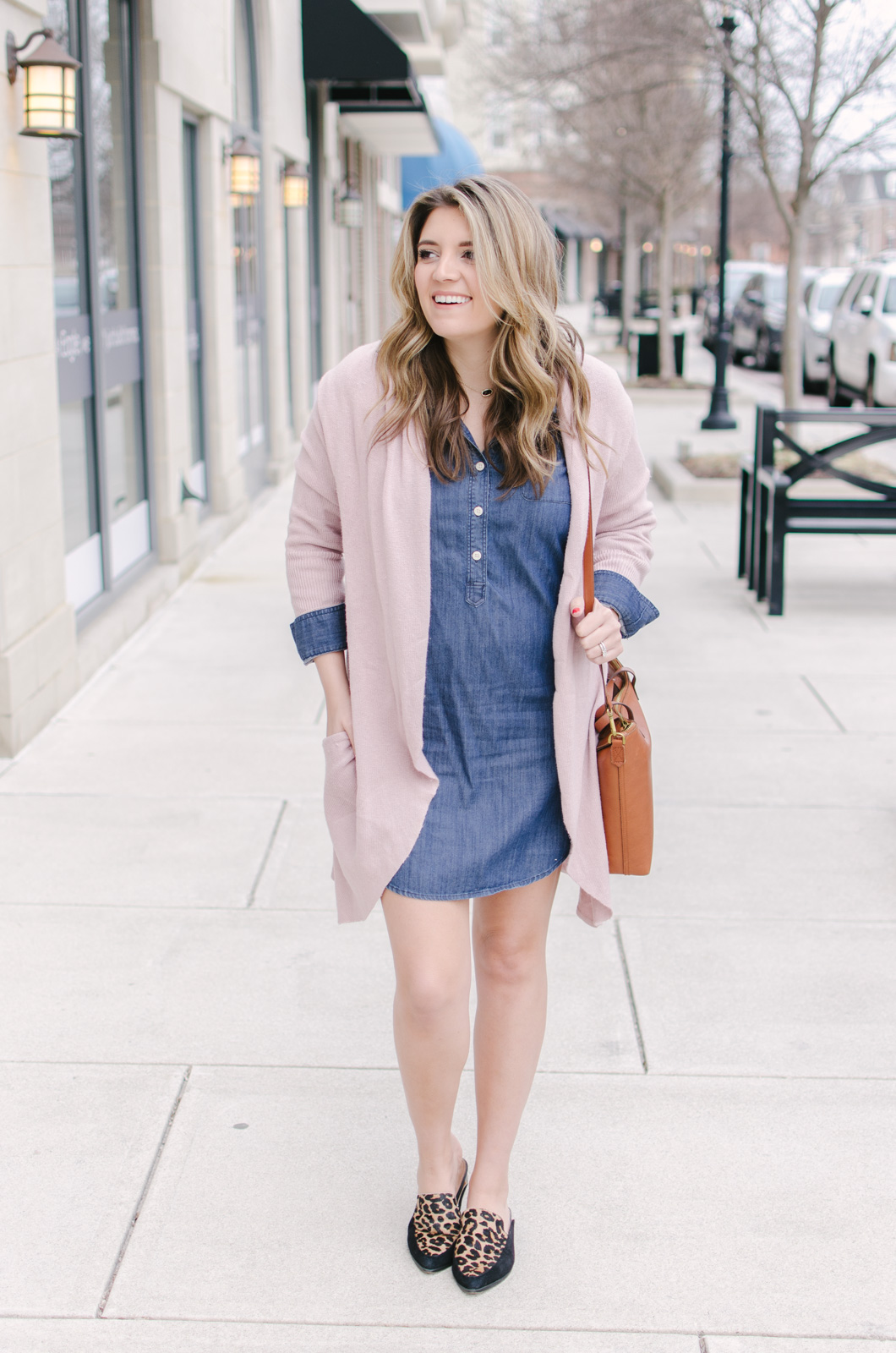 spring outfit chambray dress - how to wear a chambray dress spring | bylaurenm.com