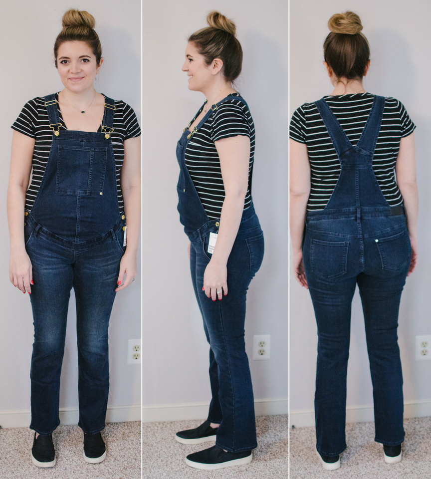 H&M Maternity overalls review | ultimate maternity overalls review - eight pairs of maternity overalls reviewed for fit, style, and comfort! bylaurenm.com