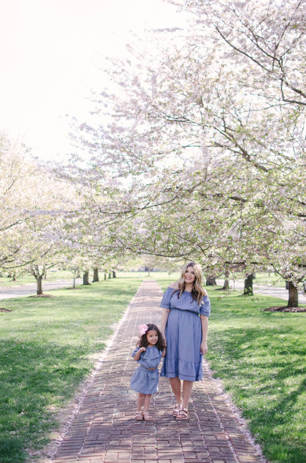 spring mommy and me outfit - spring chambray dresses | For more mommy and me outfits, see bylaurenm.com!