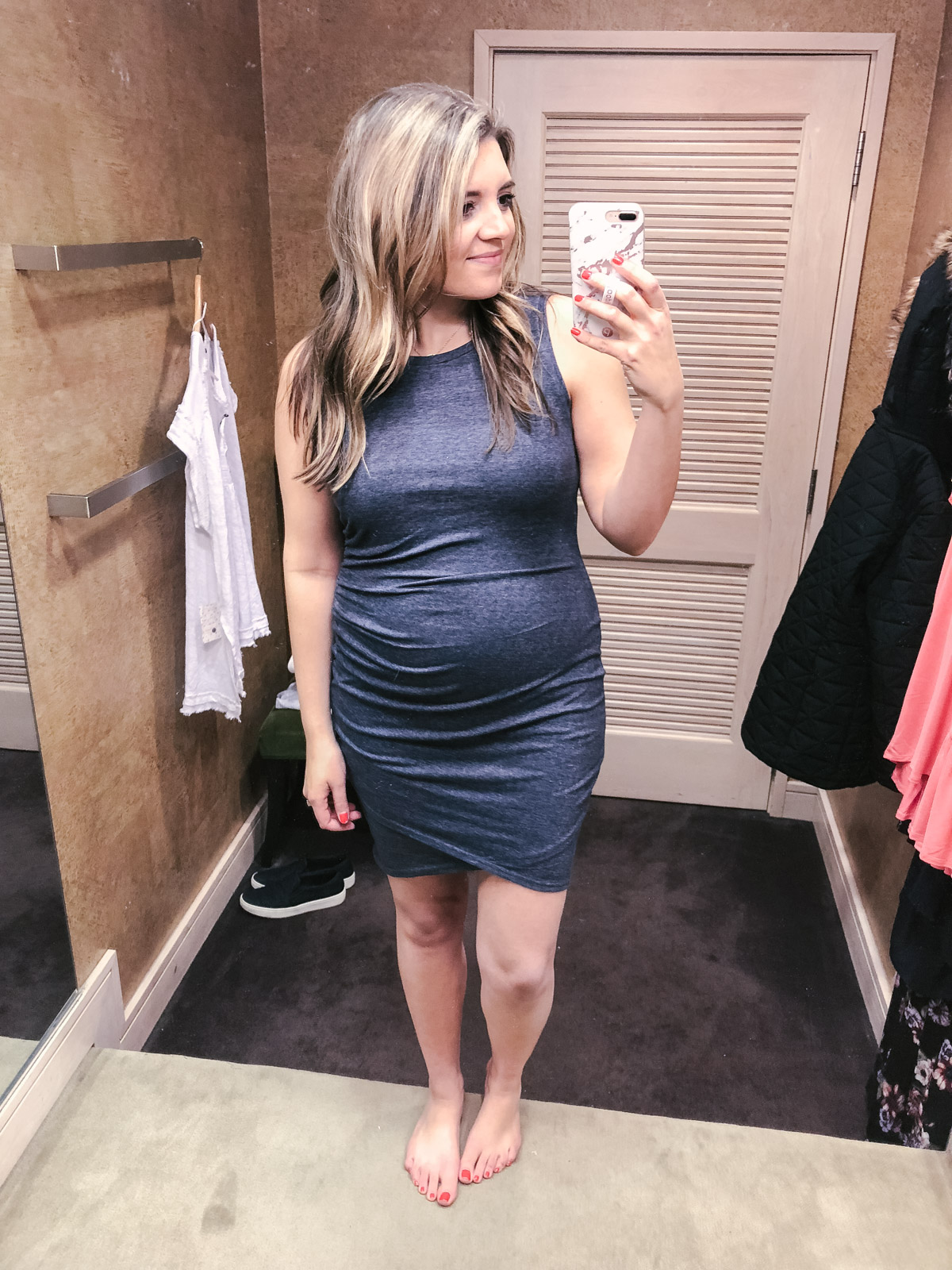 nordstrom best non-maternity dress pregnancy spring | bylaurenm.com