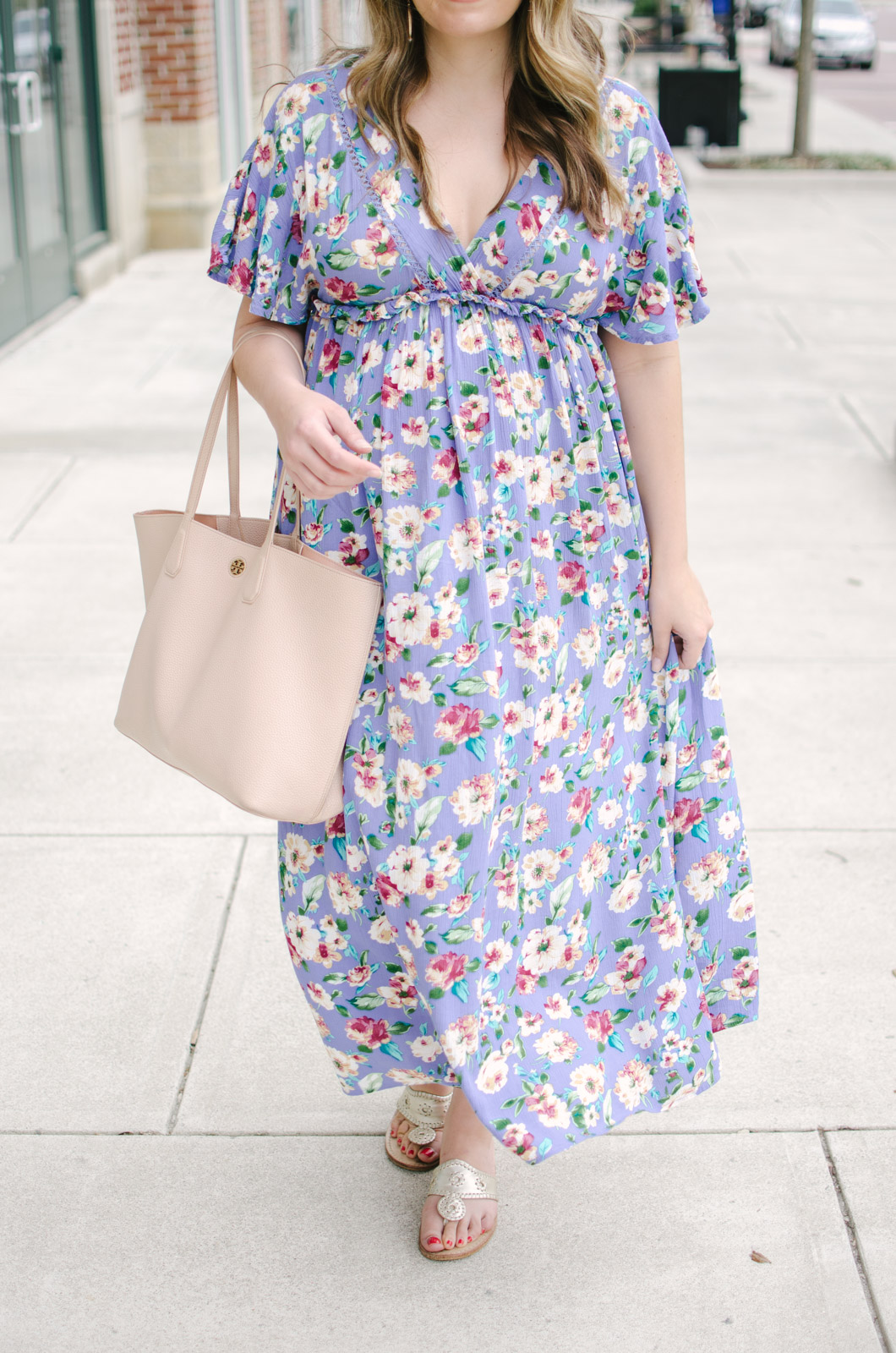 spring maternity outfit ideas - non-maternity must-have maxi dresses spring pregnancy | bylaurenm.com