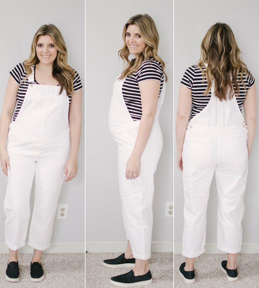 white maternity overalls review | ultimate maternity overalls review - eight pairs of maternity overalls reviewed for fit, style, and comfort! bylaurenm.com