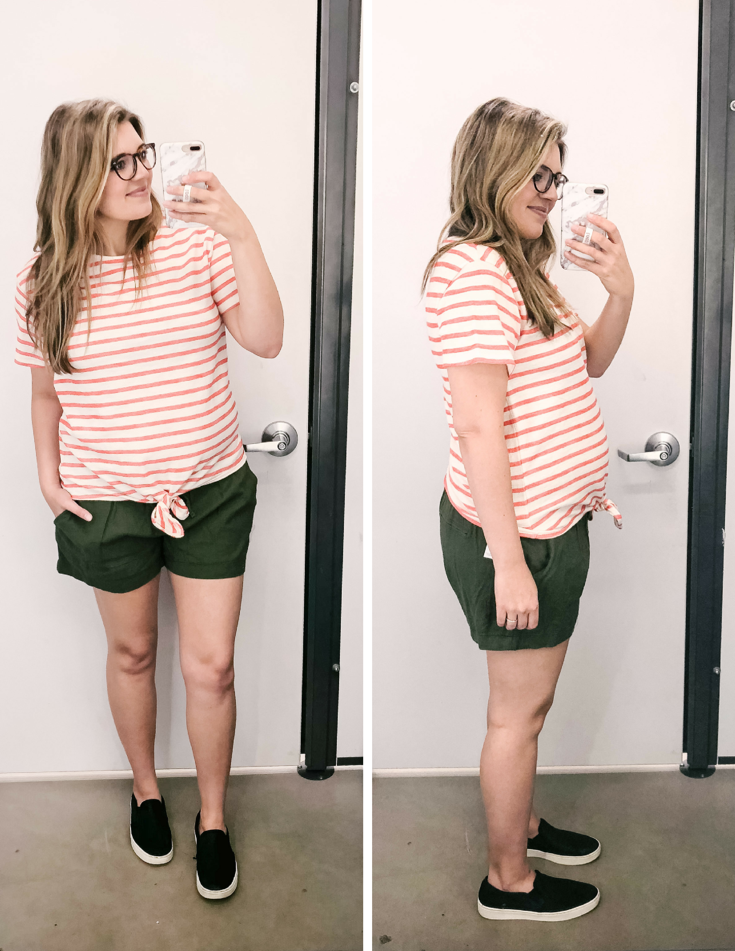 Old Navy Spring dressing room reviews 2018 - cutest non-maternity outfit ideas Old Navy | bylaurenm.com