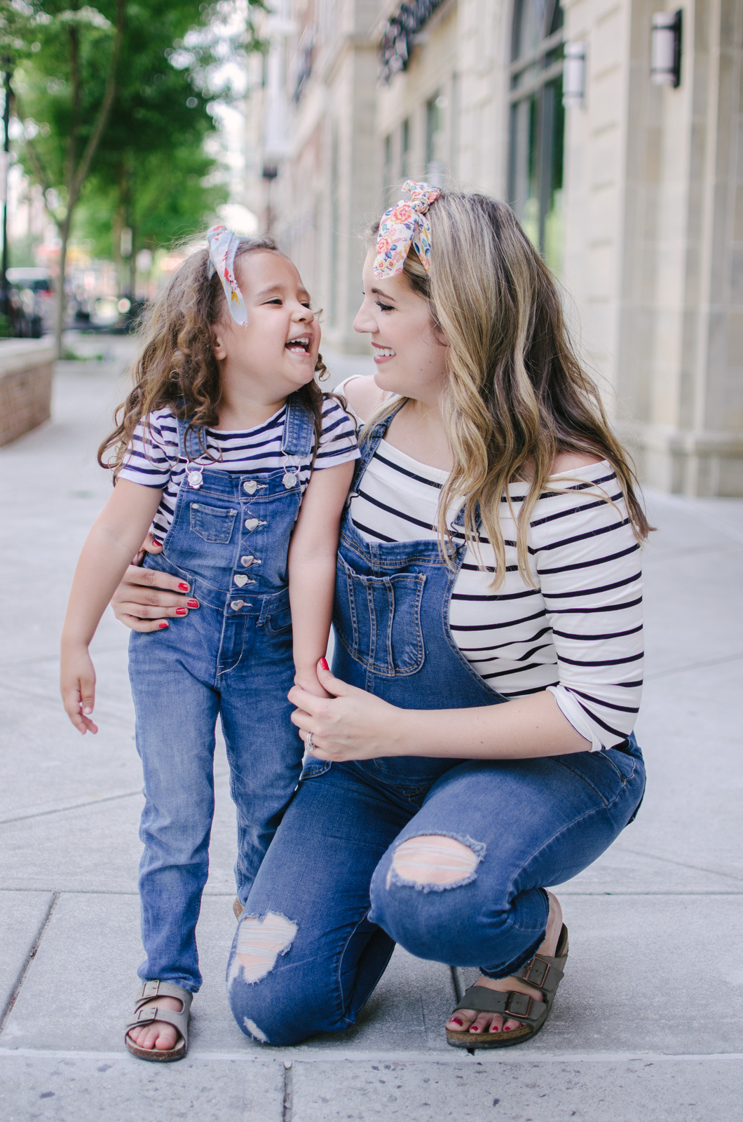 matching mommy and me overalls outfits | bylaurenm.com