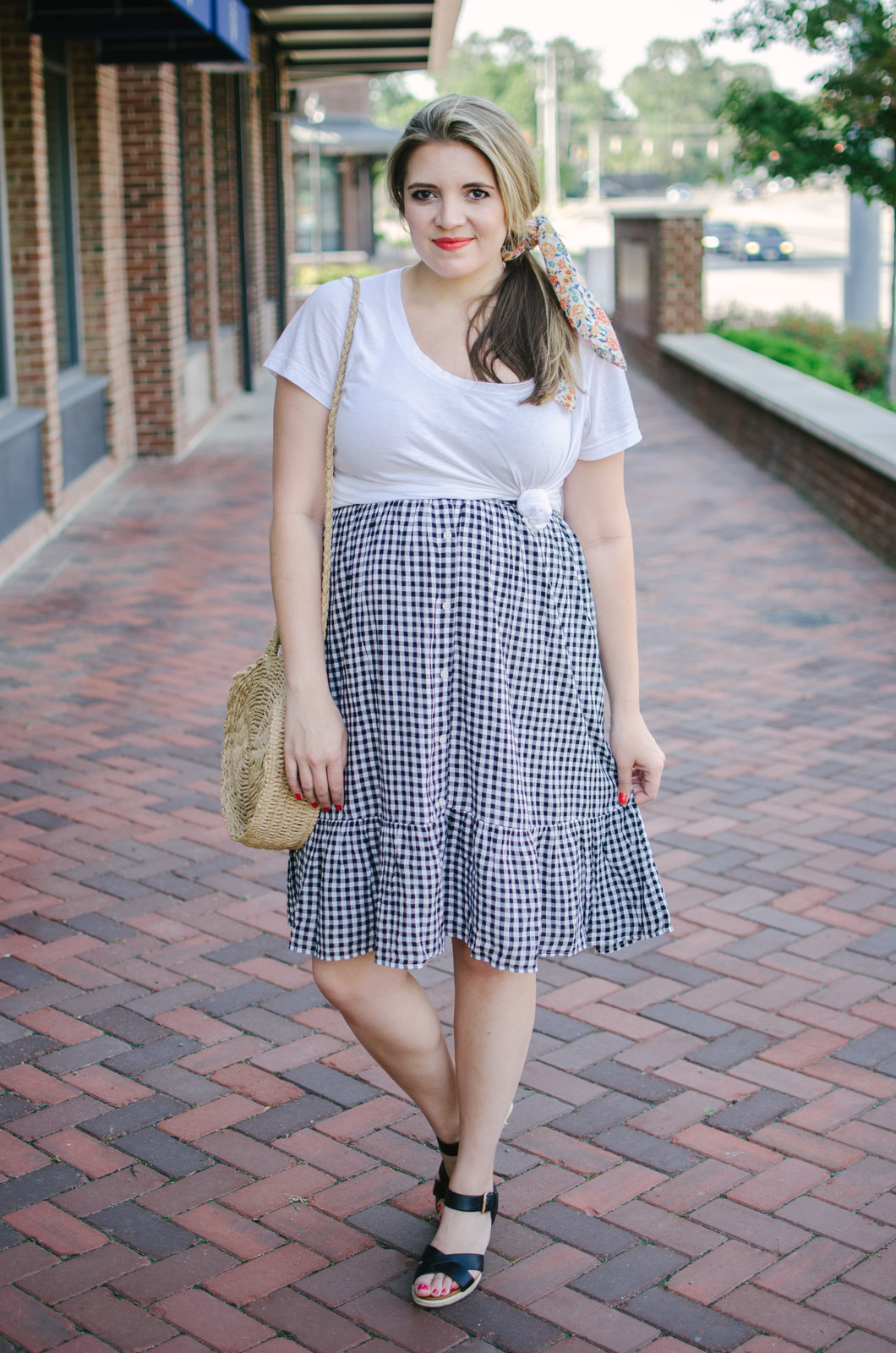 midi skirt pregnancy style - how to wear a midi skirt pregnant! | bylaurenm.com