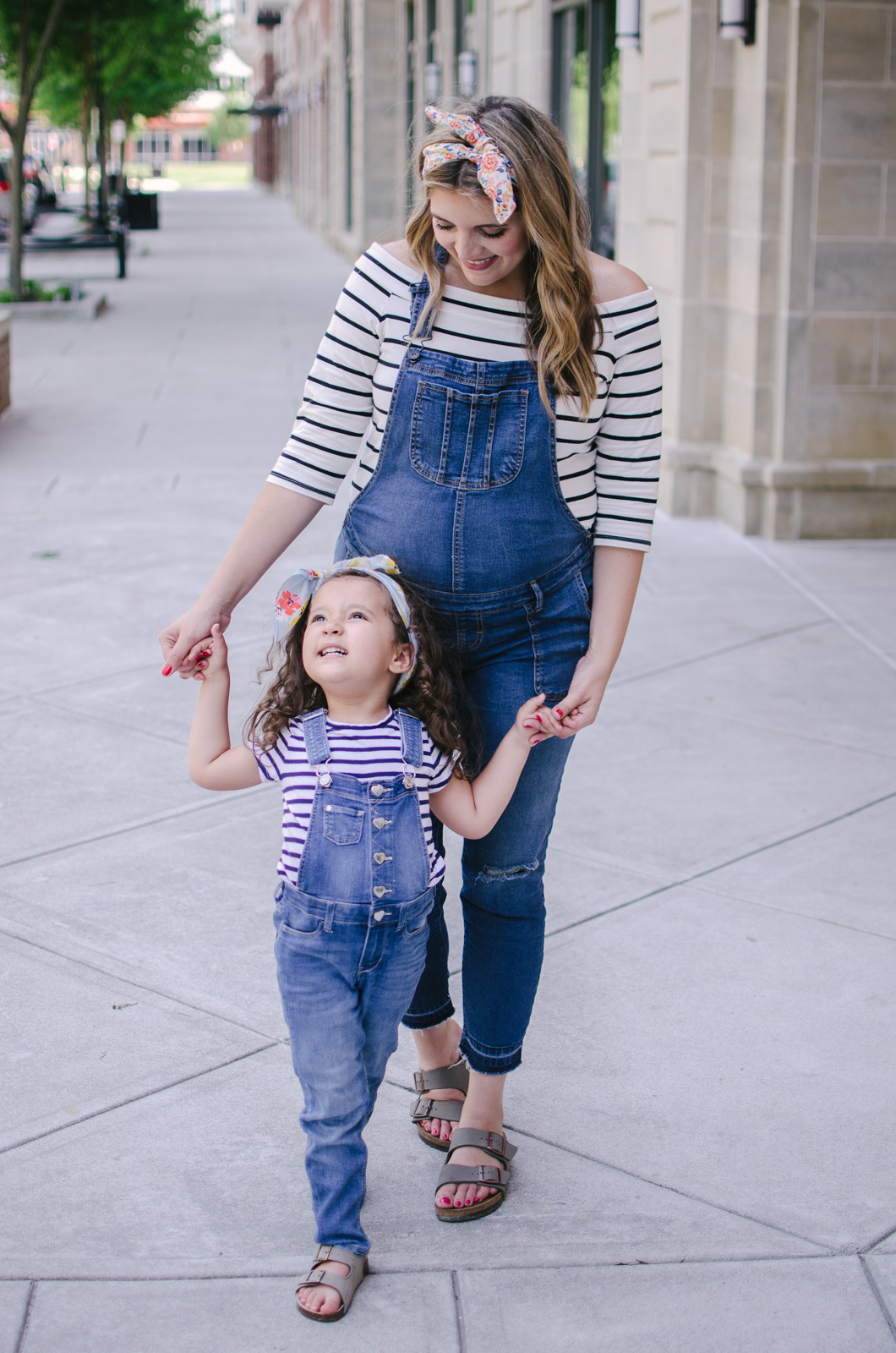 mommy and me matching outfits overalls - cute mommy and me spring outfit | bylaurenm.com