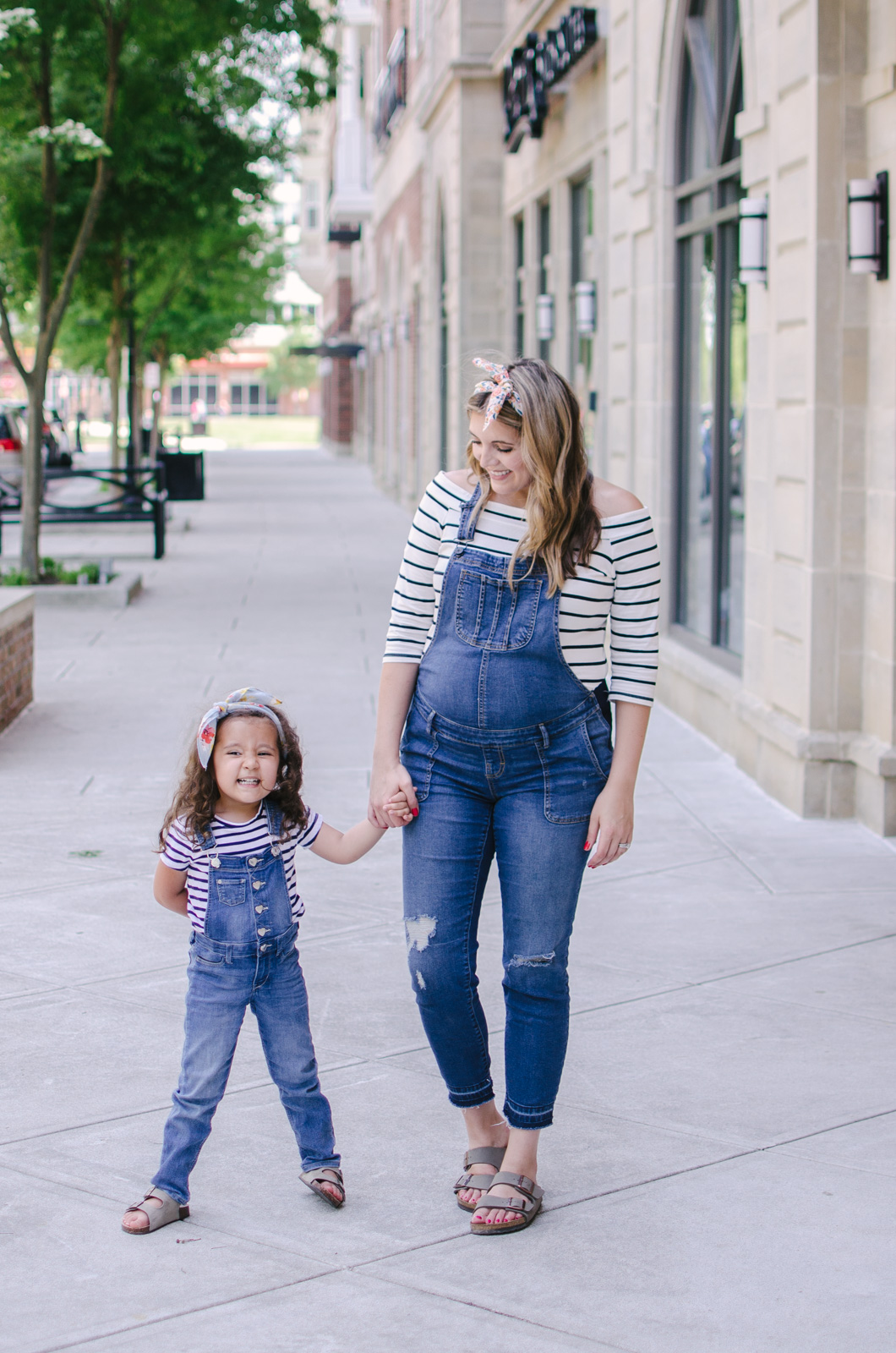 mommy and me matching overalls outfit - mother daughter outfits | bylaurenm.com