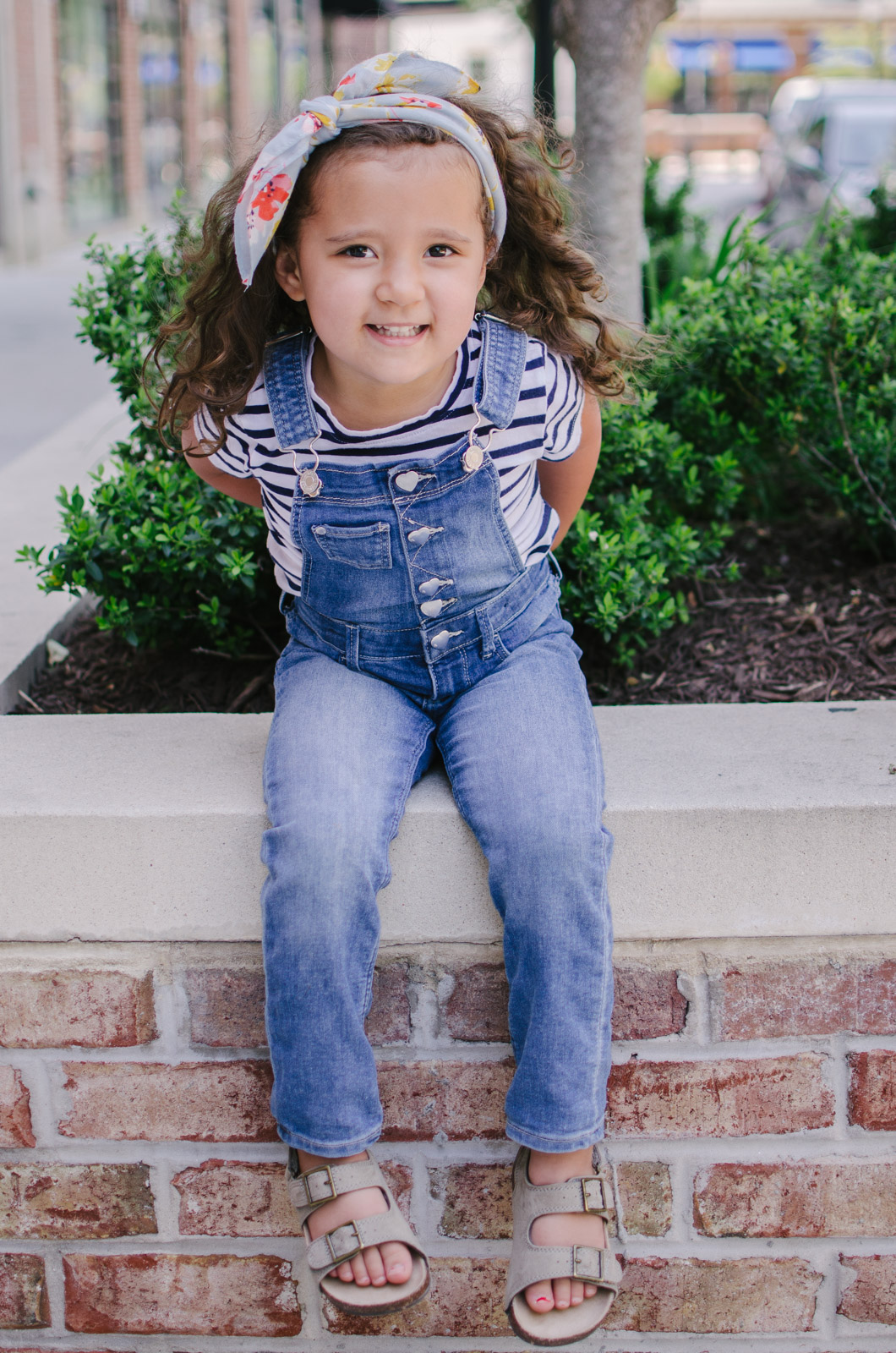 toddler girl overalls outfit - mommy and me matching outfits | bylaurenm.com