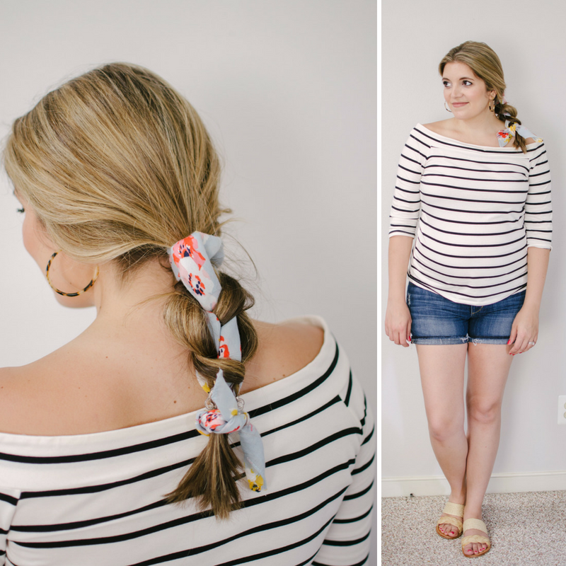 8 ways to wear a head scarf - braid a scarf in hair | Click through to see the other scarf ideas, including four more ways to wear them in your hair! | bylaurenm.com
