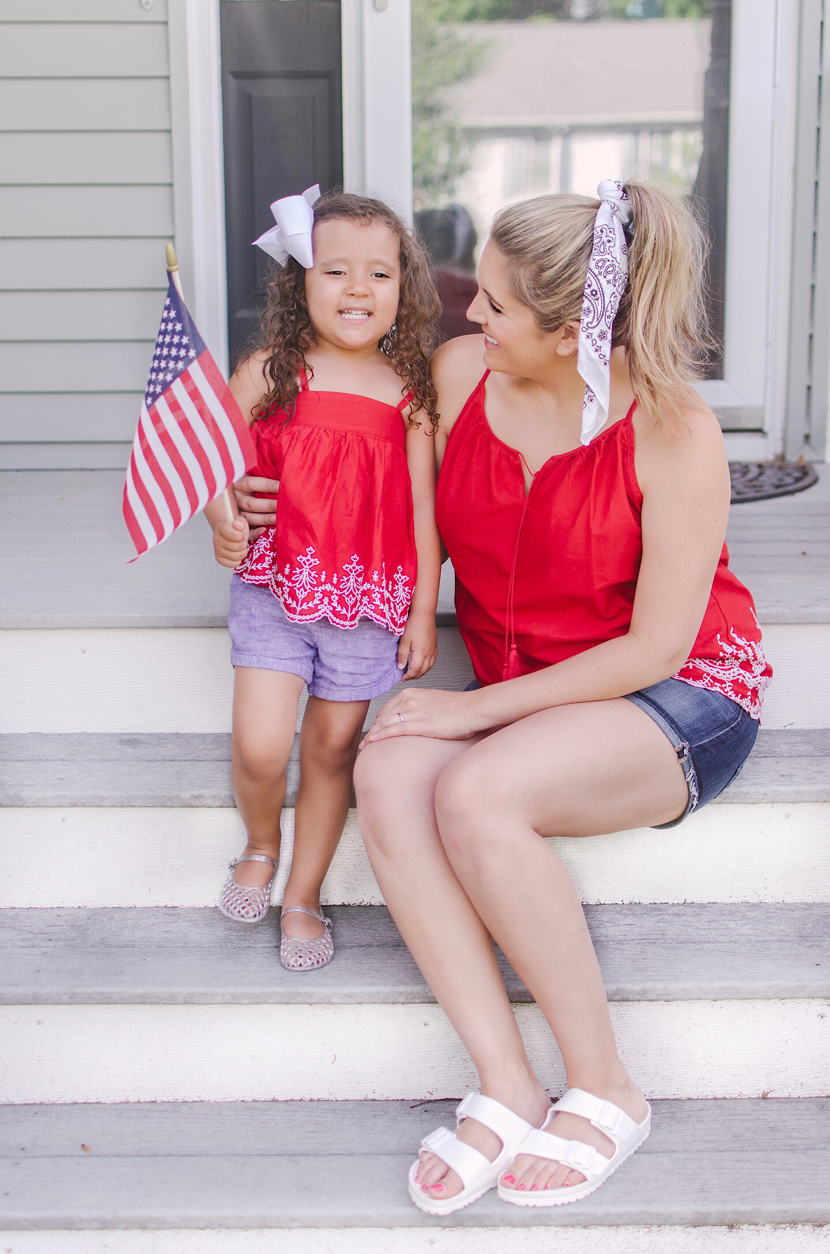 mommy and me matching 4th of july outfits | patriotic outfit roundup - come see over 15 4th of july outfit ideas! bylaurenm.com