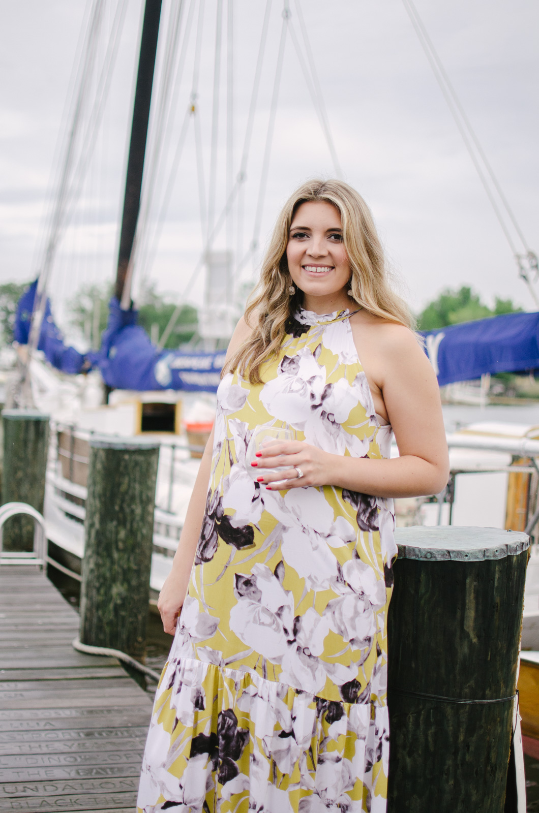 maternity style: floral maxi dress - non-maternity maxi dress for summer | bylaurenm.com