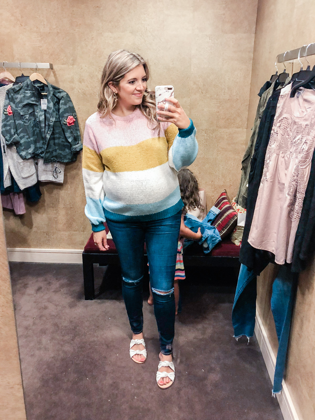 topshop colorblock sweater - Nordstrom anniversary sale 2018 try-on session: over 25 items reviewed for fit and size! | bylaurenm.com