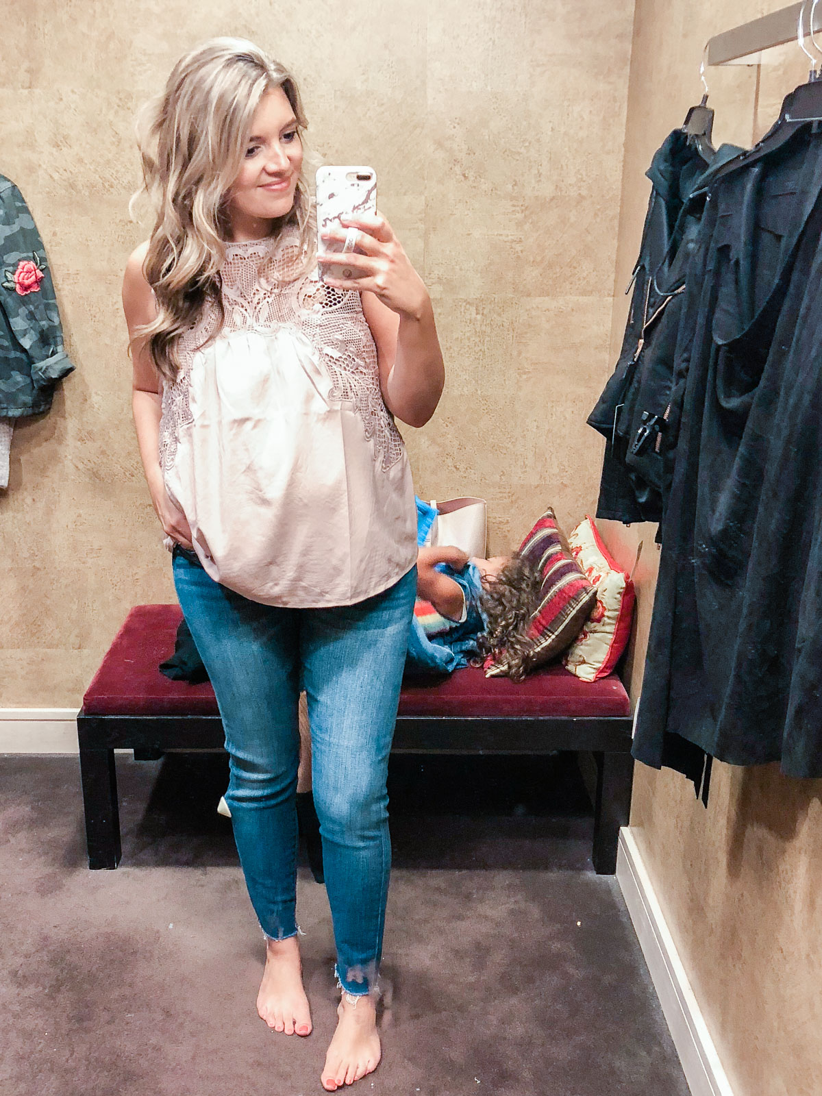 lace yoke top - Nordstrom anniversary sale 2018 try-on session: over 25 items reviewed for fit and size!   bylaurenm.com