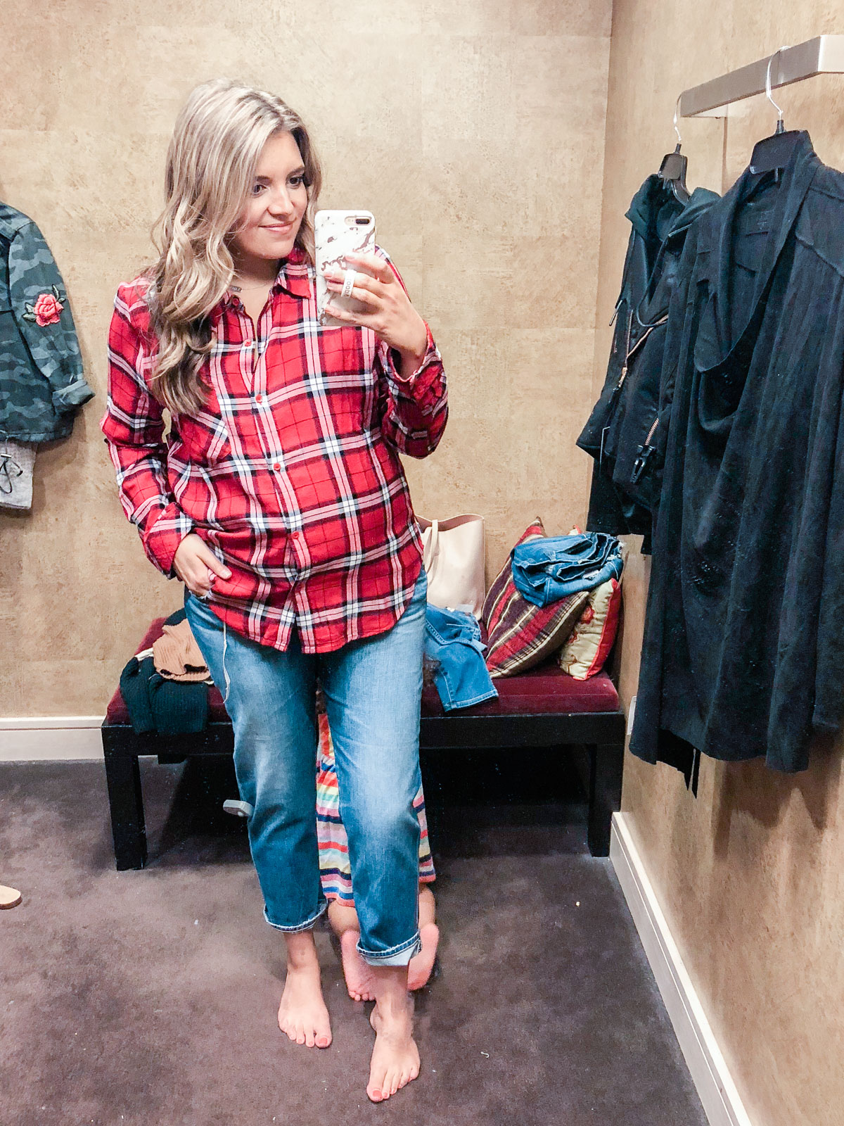 BP. plaid top - Nordstrom anniversary sale 2018 try-on session: over 25 items reviewed for fit and size! | bylaurenm.com