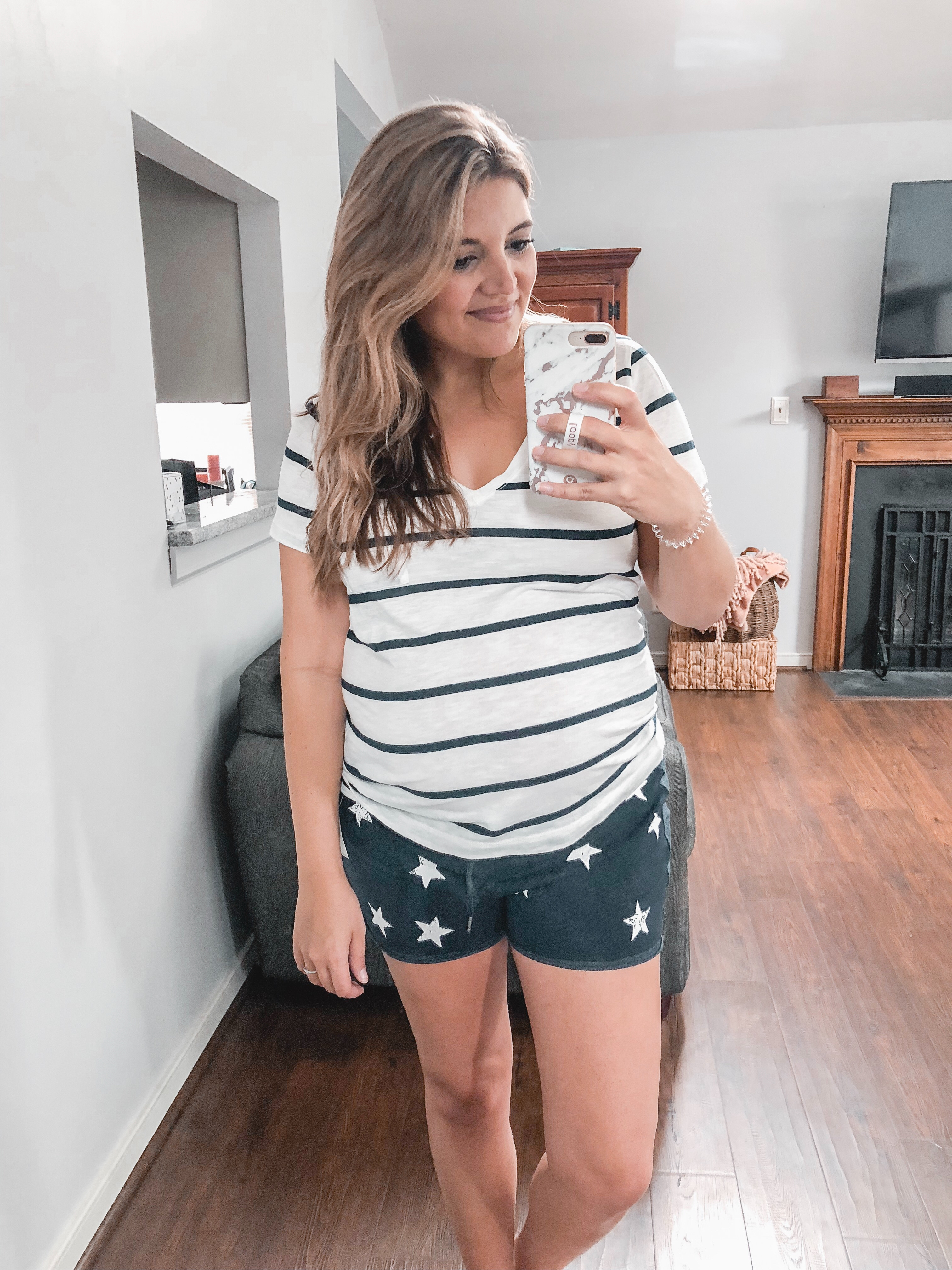 trunk club maternity + non maternity pieces reviewed | Trunk club review July 2018 bylaurenm.com