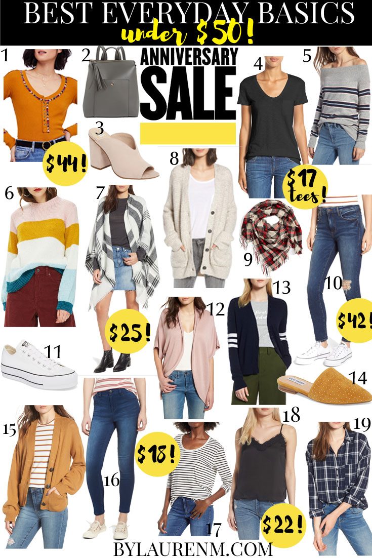 2018 Nordstrom Anniversary Sale Under $50 - my top affordable sale picks that will staples in your Fall wardrobe! | bylaurenm.com