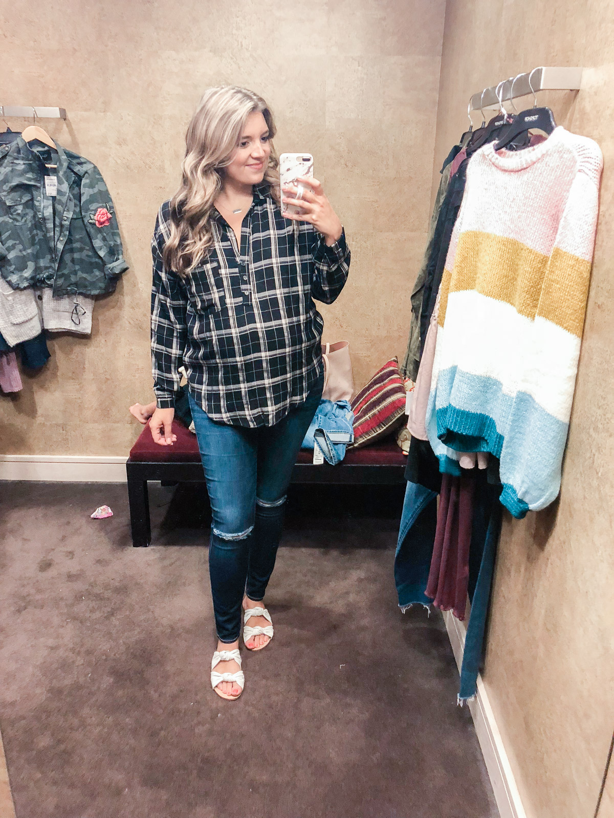 plaid popover - Nordstrom anniversary sale 2018 try-on session: over 25 items reviewed for fit and size! | bylaurenm.com