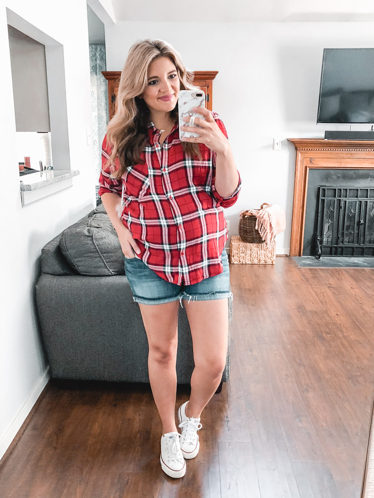 plaid top summer outfit: Need plaid top outfit ideas? I'm sharing one $31 plaid top styled 15 different ways on bylaurenm.com!