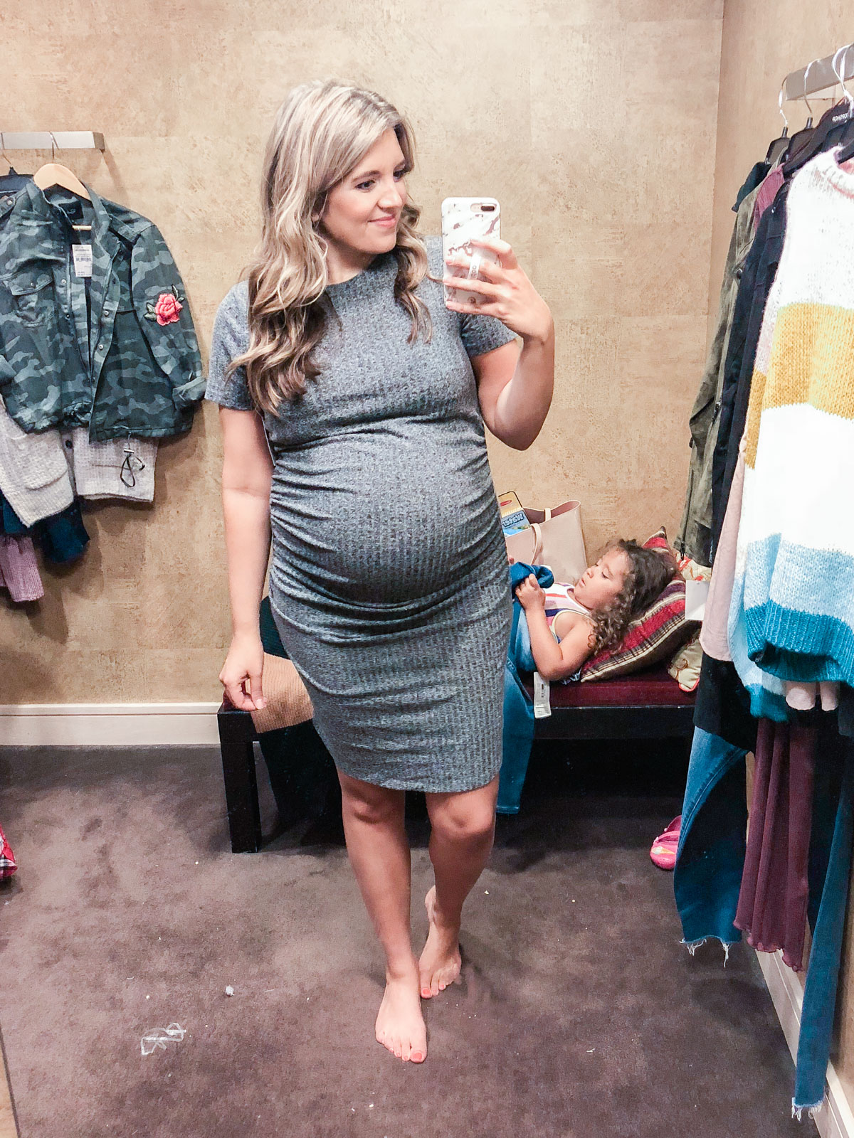 BP. ruched dress - Nordstrom anniversary sale 2018 try-on session: over 25 items reviewed for fit and size!   bylaurenm.com