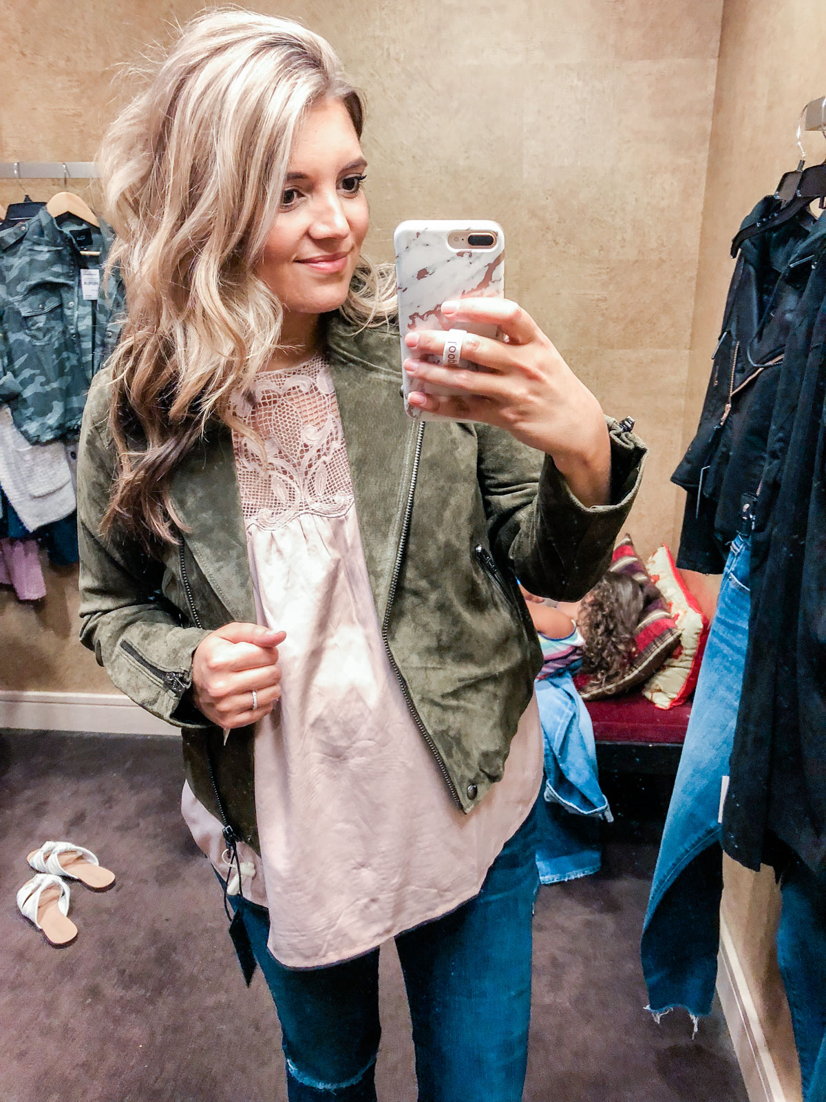 suede jacket - Nordstrom anniversary sale 2018 try-on session: over 25 items reviewed for fit and size! | bylaurenm.com