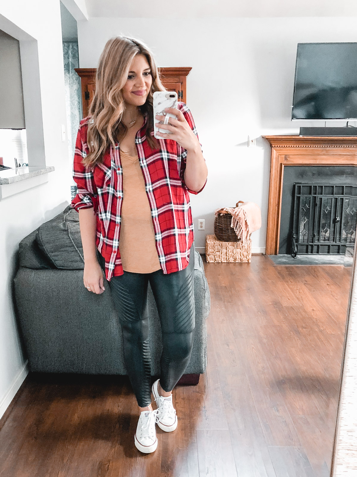 best plaid top outfits 2018 - Need plaid top outfit ideas? I'm sharing one $31 plaid top styled 15 different ways on bylaurenm.com!