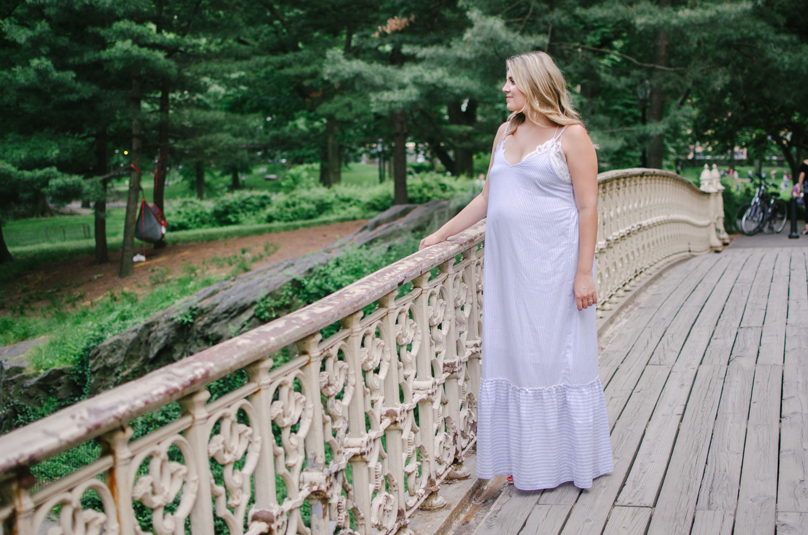 my fav summer pregnancy outfit - I've been living in maxi dresses over my summer pregnancy! See why this is a fav at bylaurenm.com!