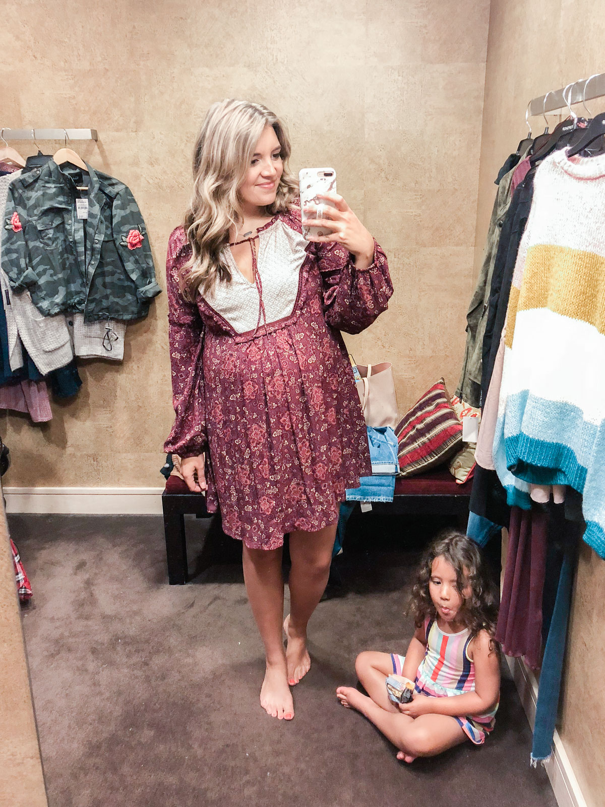 Hinge printed dress - Nordstrom anniversary sale 2018 try-on session: over 25 items reviewed for fit and size! | bylaurenm.com