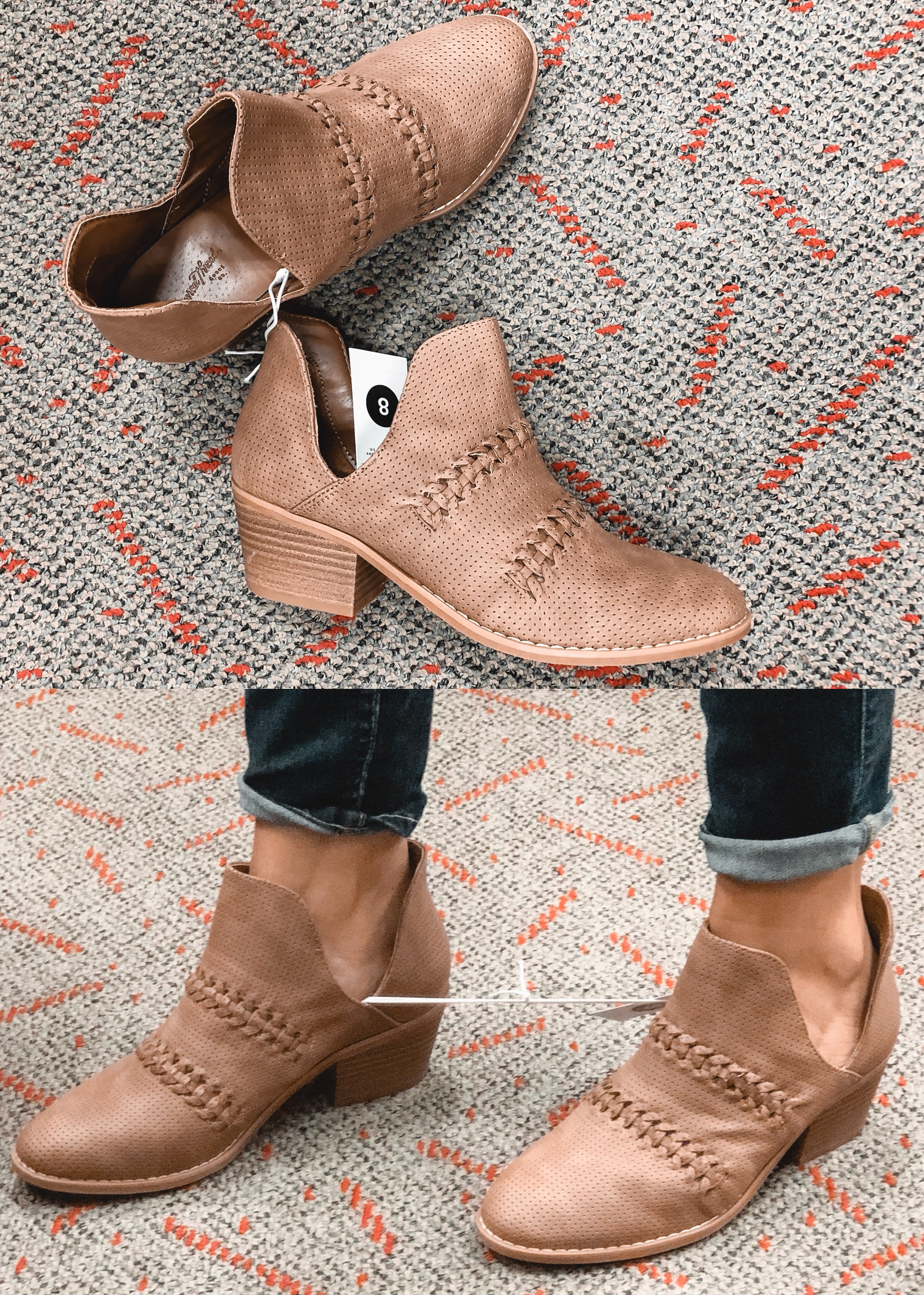 fall target booties review - universal thread autumn braided boot | 9 pairs of target fall shoes reviewed! bylaurenm.com