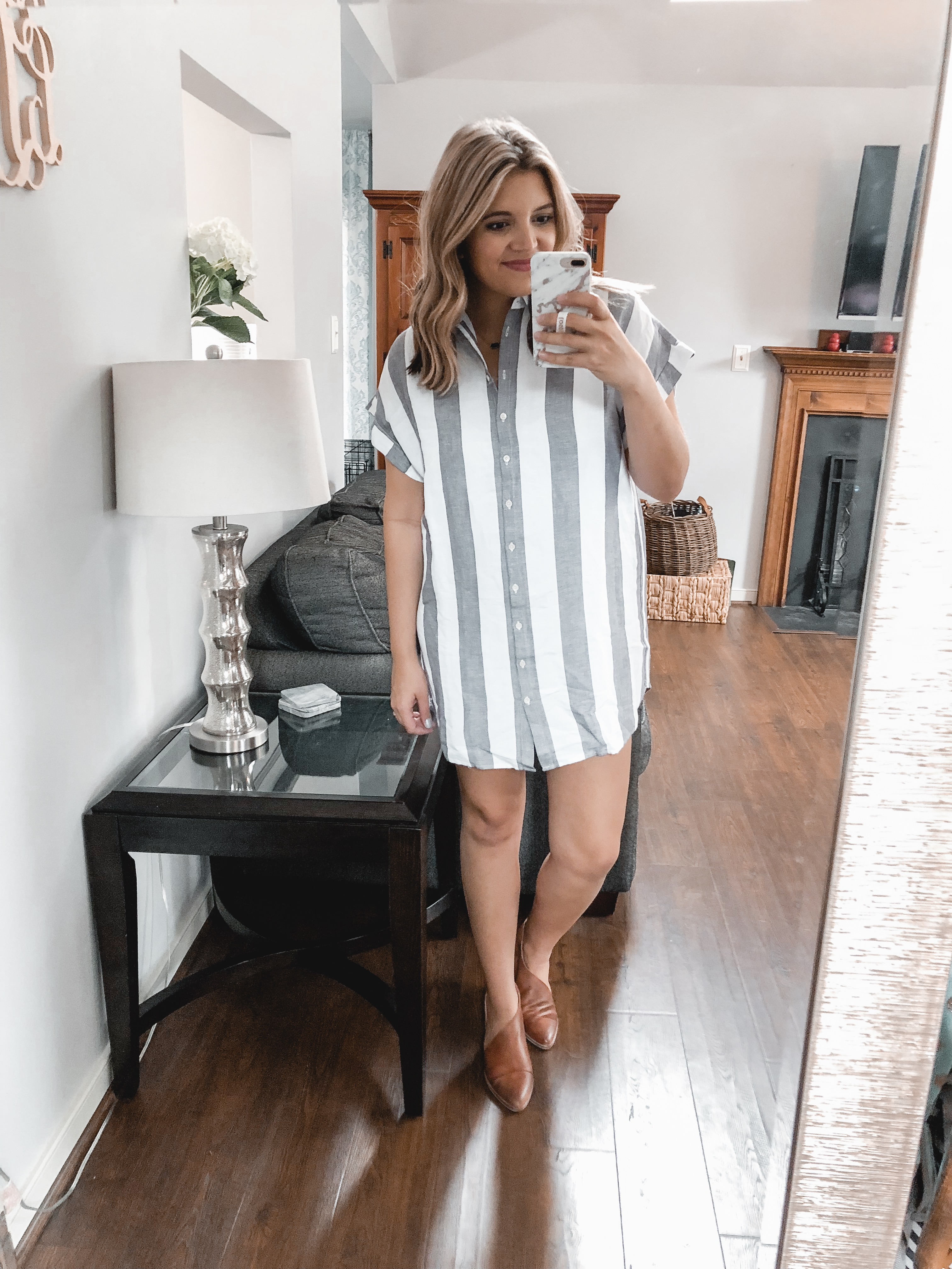 madewell shirtdress trunk club september review - nursing-friendly try-on session and reviews! bylaurenm.com