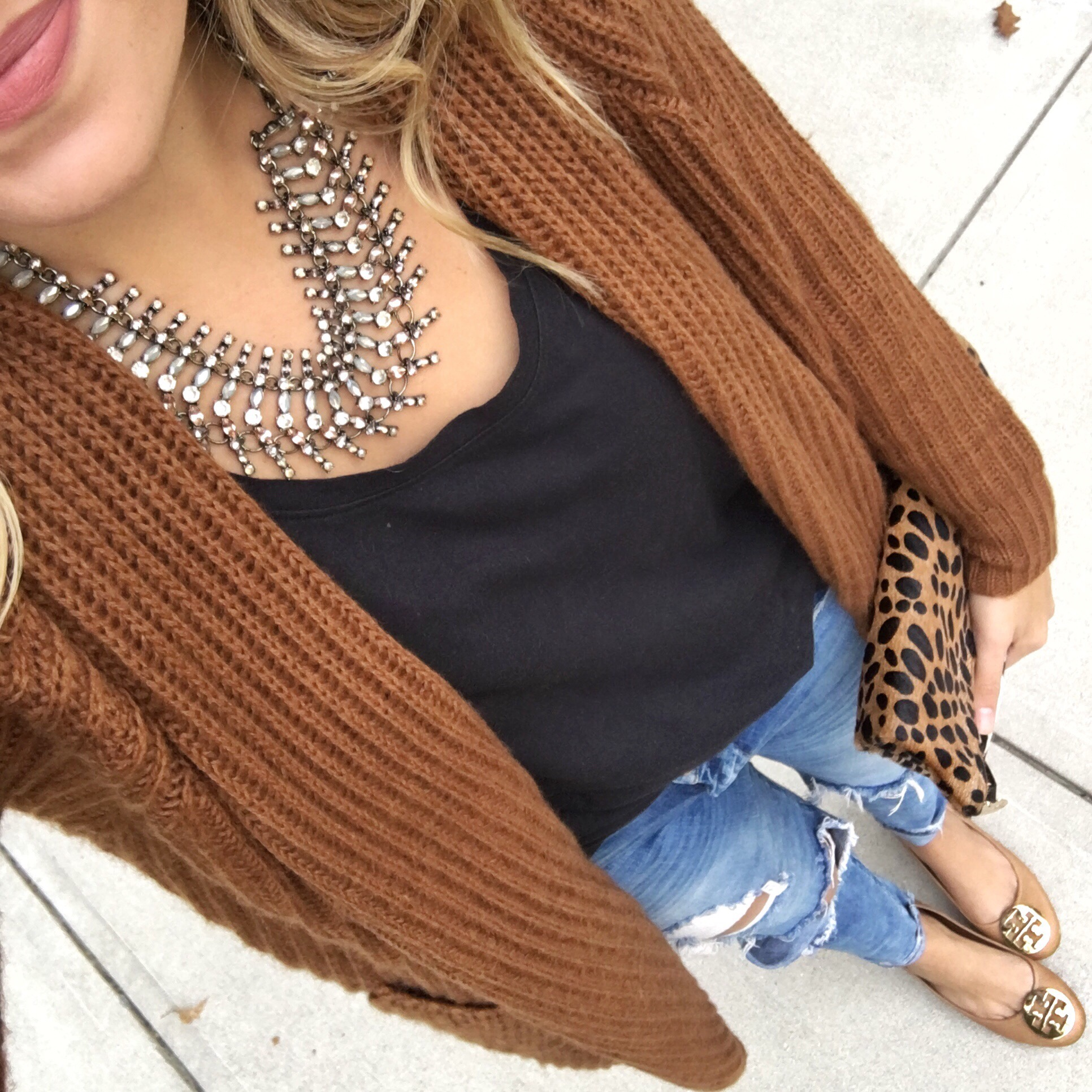 shopbop sale - brown and black winter outfit