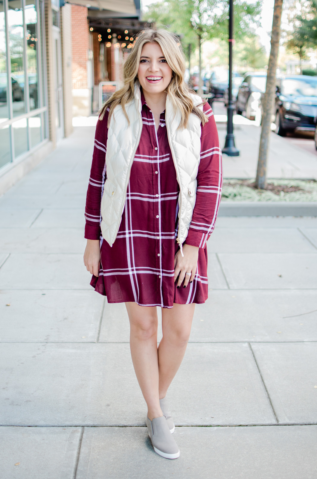 five plaid dress outfits for fall and winter - head to the post to see the additional 4 plaid dress outfit ideas! | bylaurenm.com