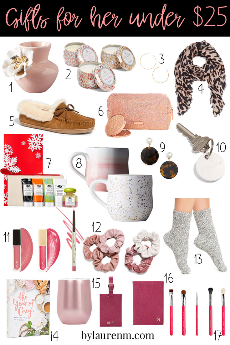 gifts for her under 25 - the best affordable gifts for her! Stocking stuffers, friend gifts and more! bylaurenm.com