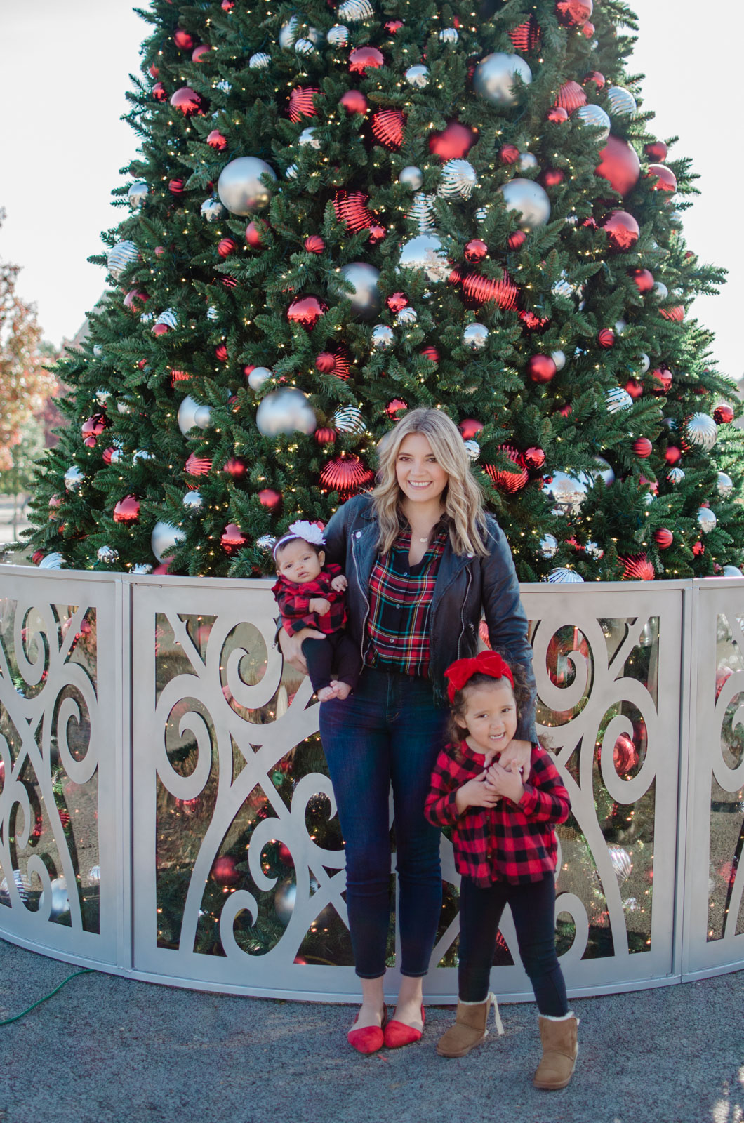 mommy and me girl outfits for christmas - family plaid christmas outfits | bylaurenm.com
